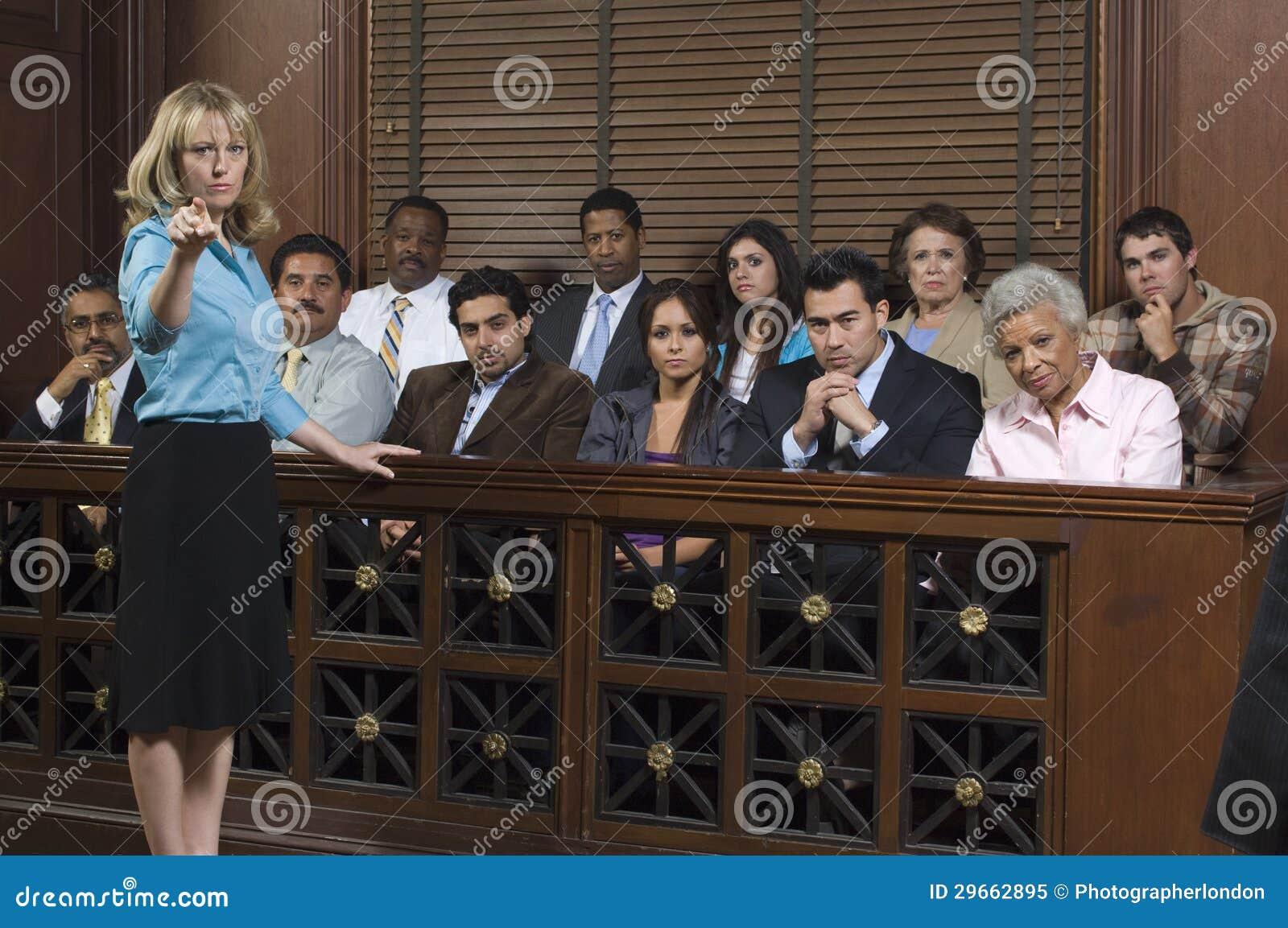 ÅklagareWith Jury In domstol