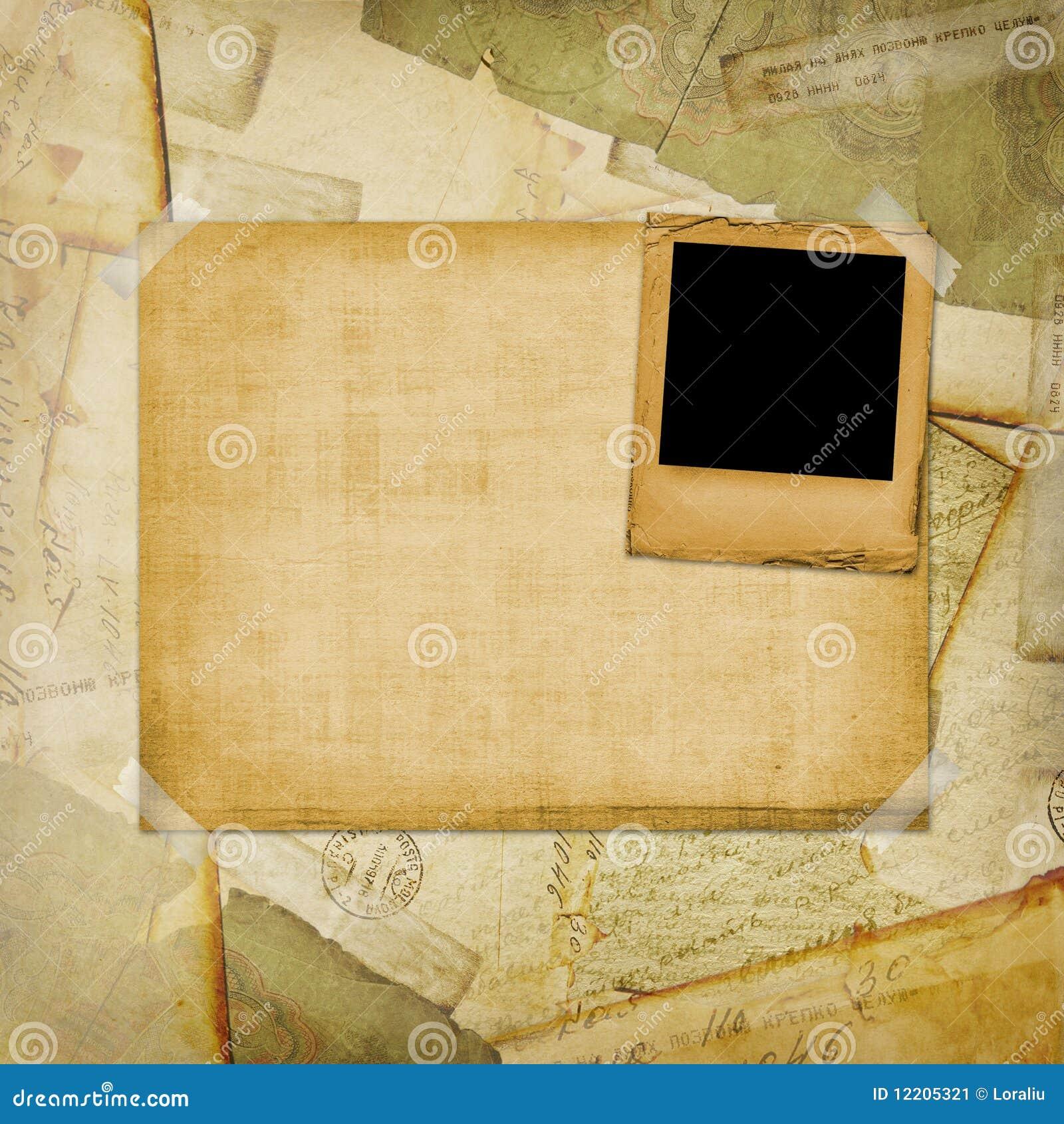 åldrig bakgrund packar gammal vykorttappning in