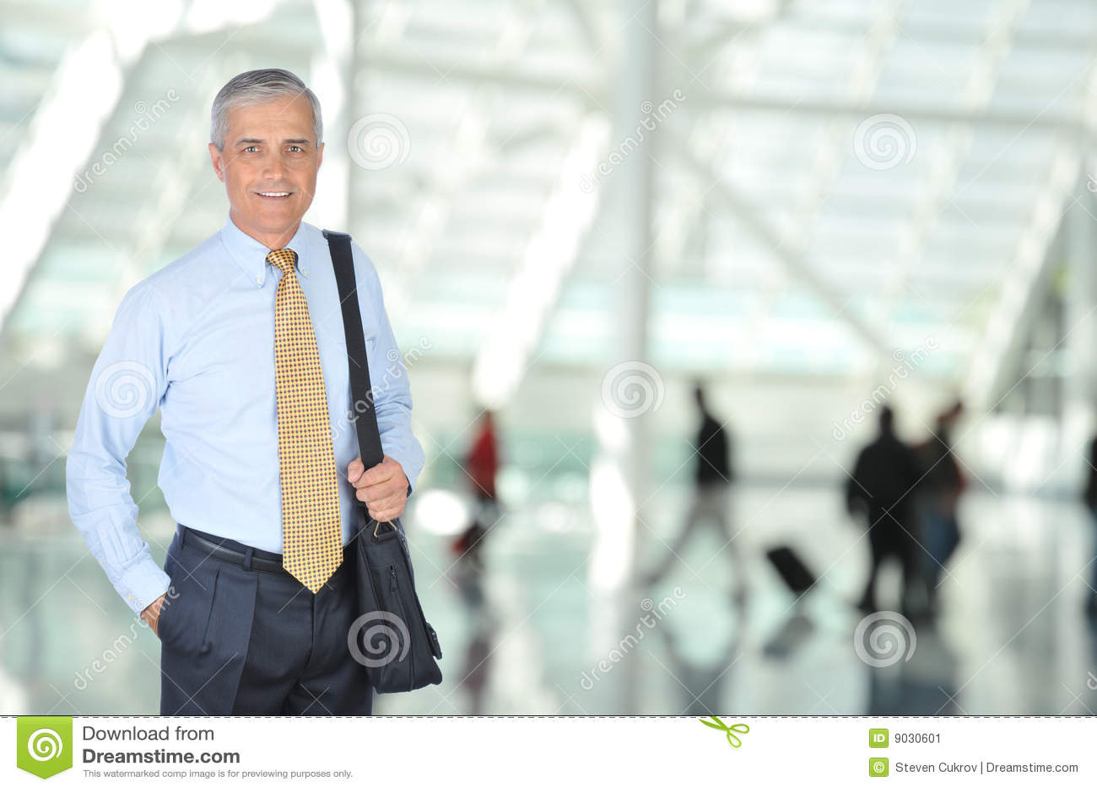 åldrig handelsresande för flygplatsaffärsmitt