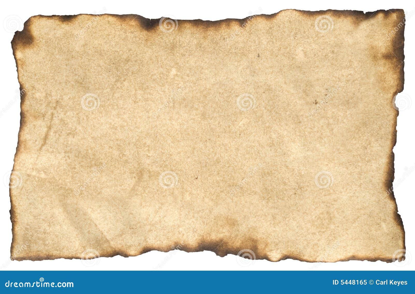 åldrig parchment för blankt papper