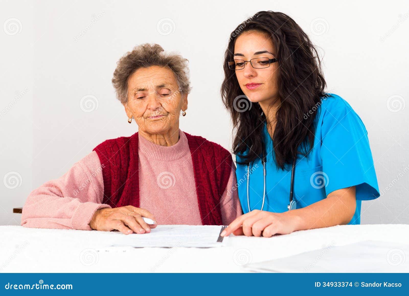 Åldring för portion för socialtjänstfamiljeförsörjare