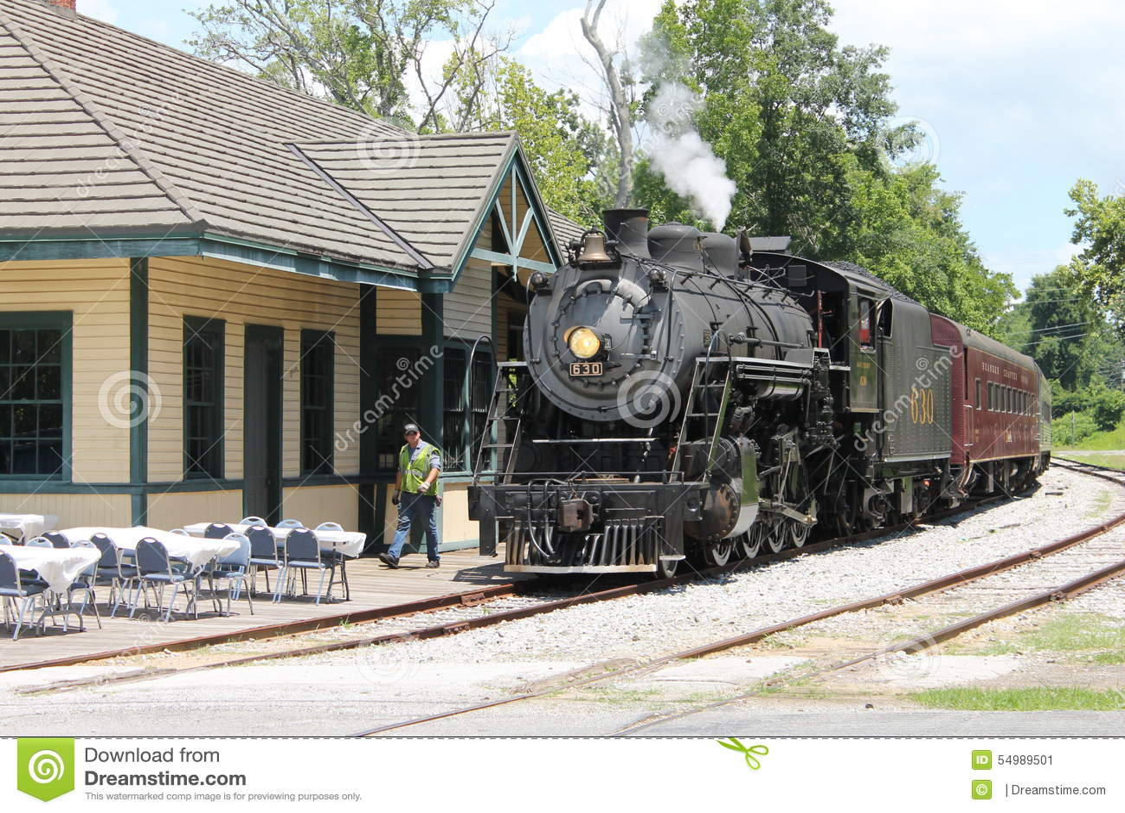 Ånga drevet från Chattanooga, TN till Summerville, GUMMIN