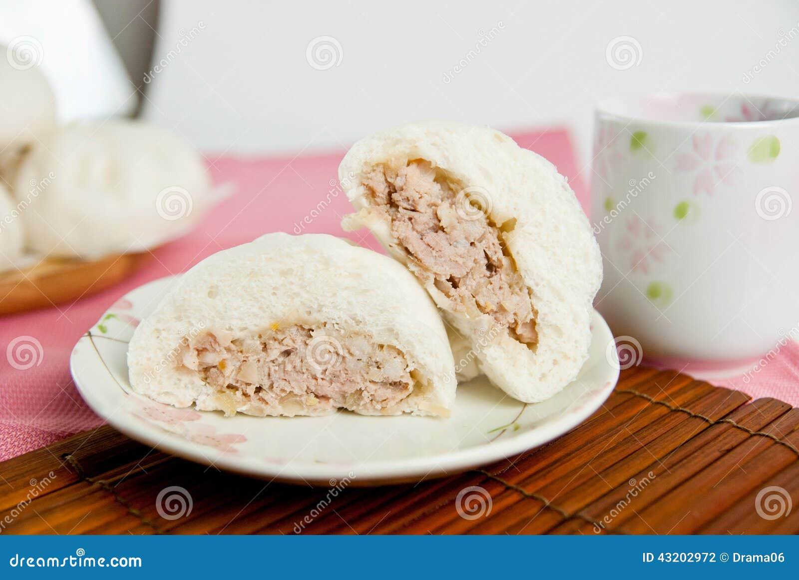 Download Ångade Grisköttbullar, Kinesisk Dim Sum Arkivfoto - Bild av matställe, påfyllningar: 43202972