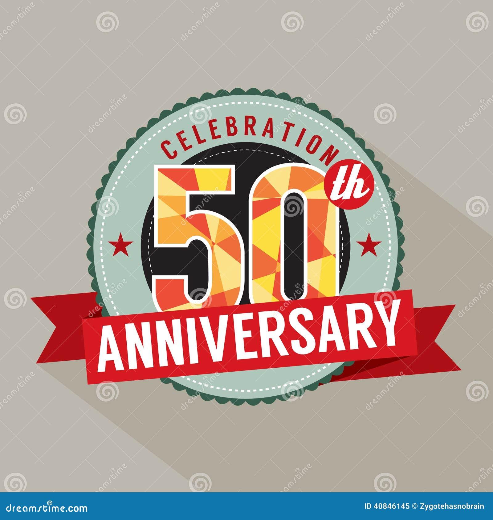 50 år årsdagberömdesign