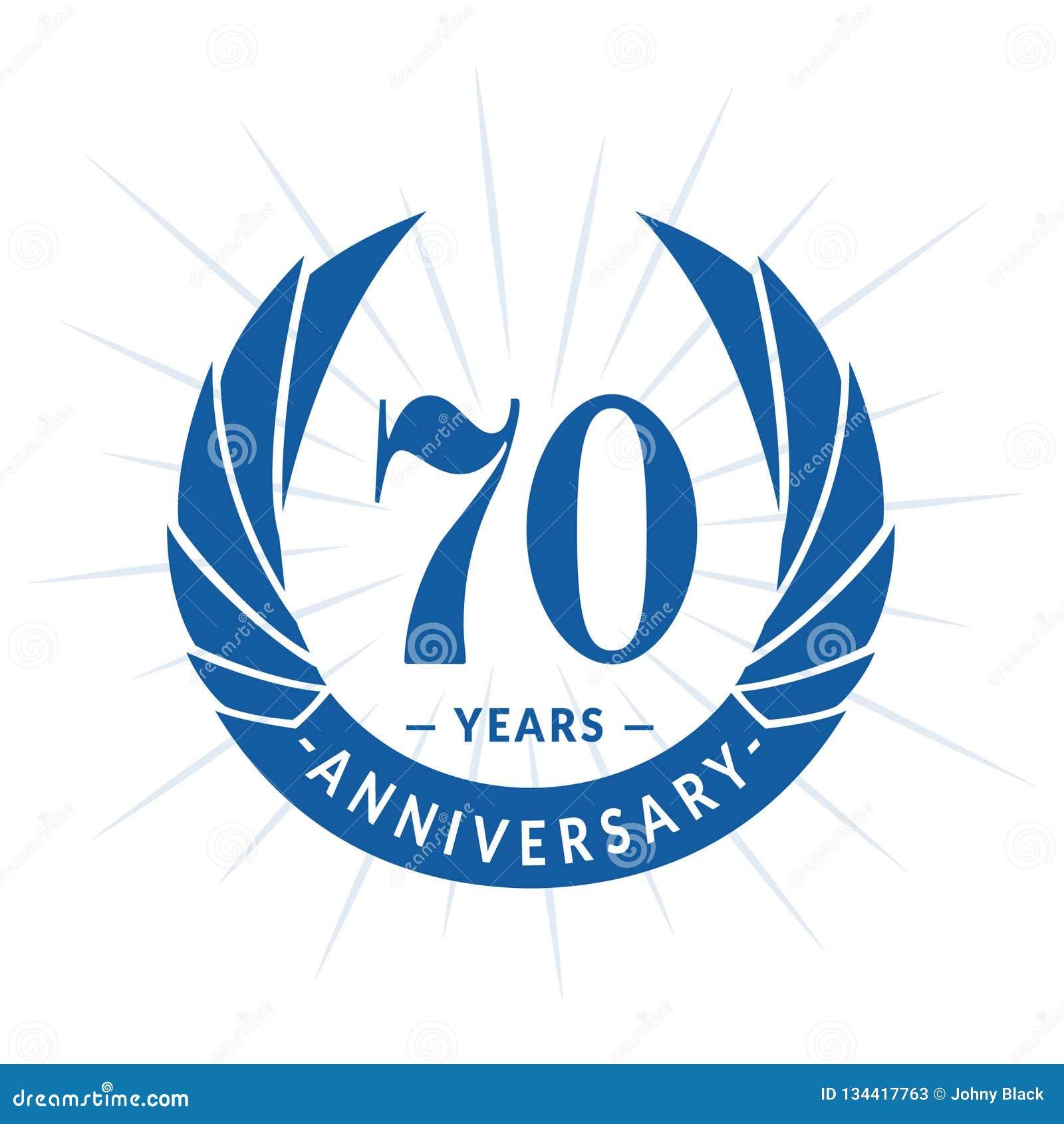 70 år årsdagdesignmall Elegant årsdaglogodesign Sjuttio år logo