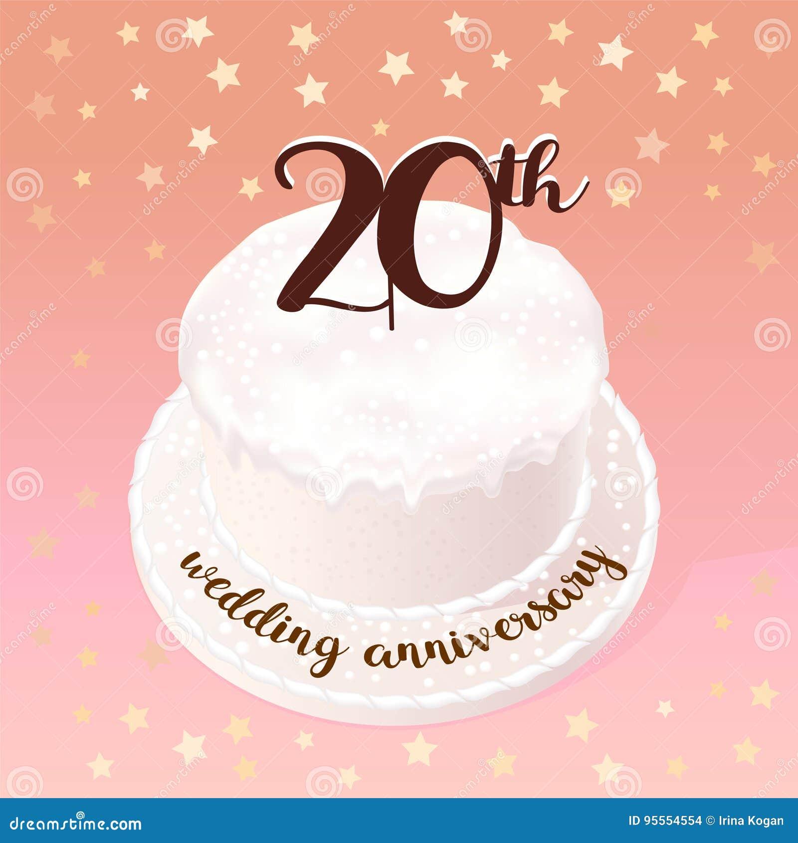 20 år bröllop 20 år Av Bröllop  Eller Förbindelsevektorsymbolen, Illustration  20 år bröllop
