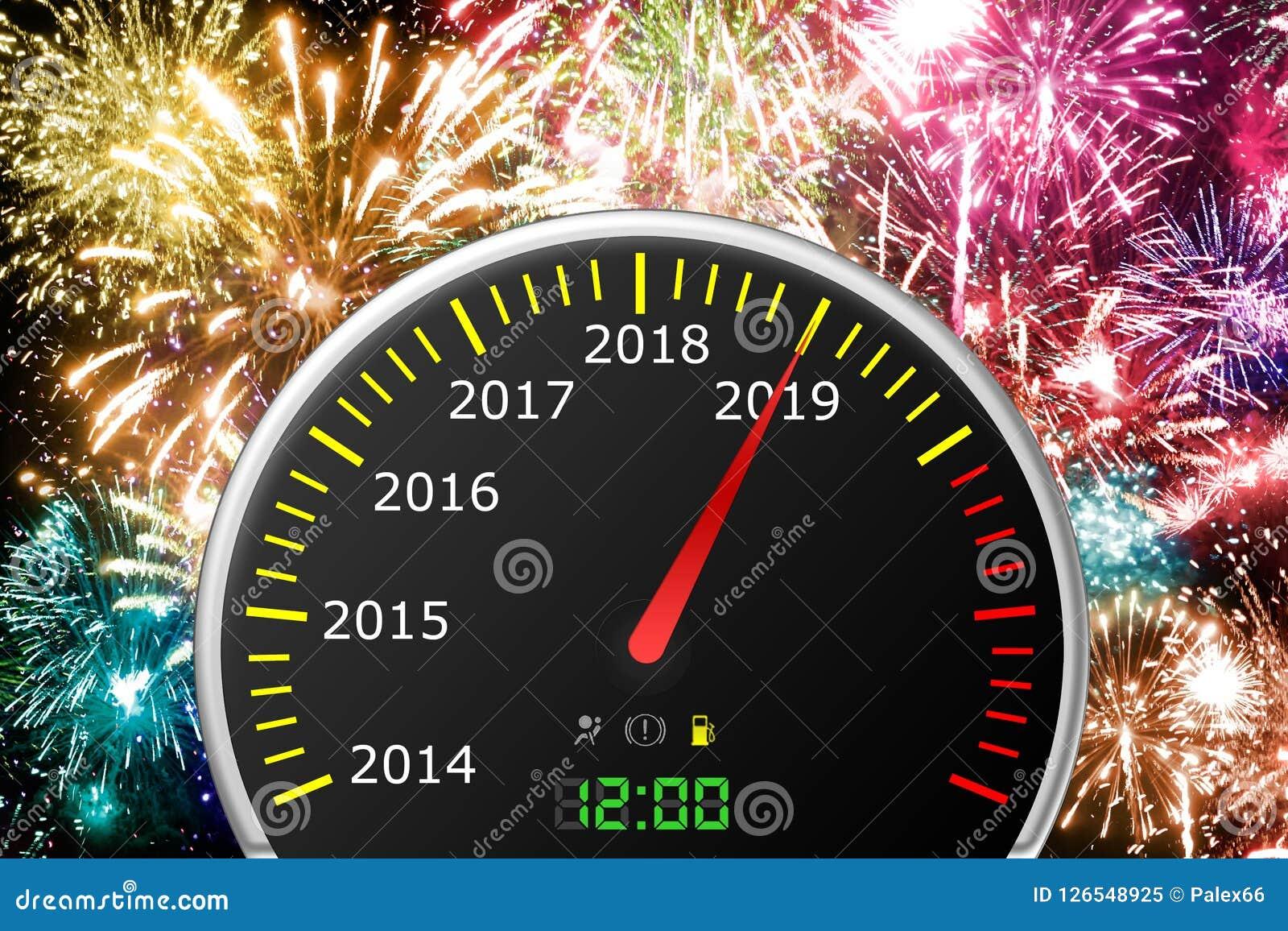 2019 år bilhastighetsmätare