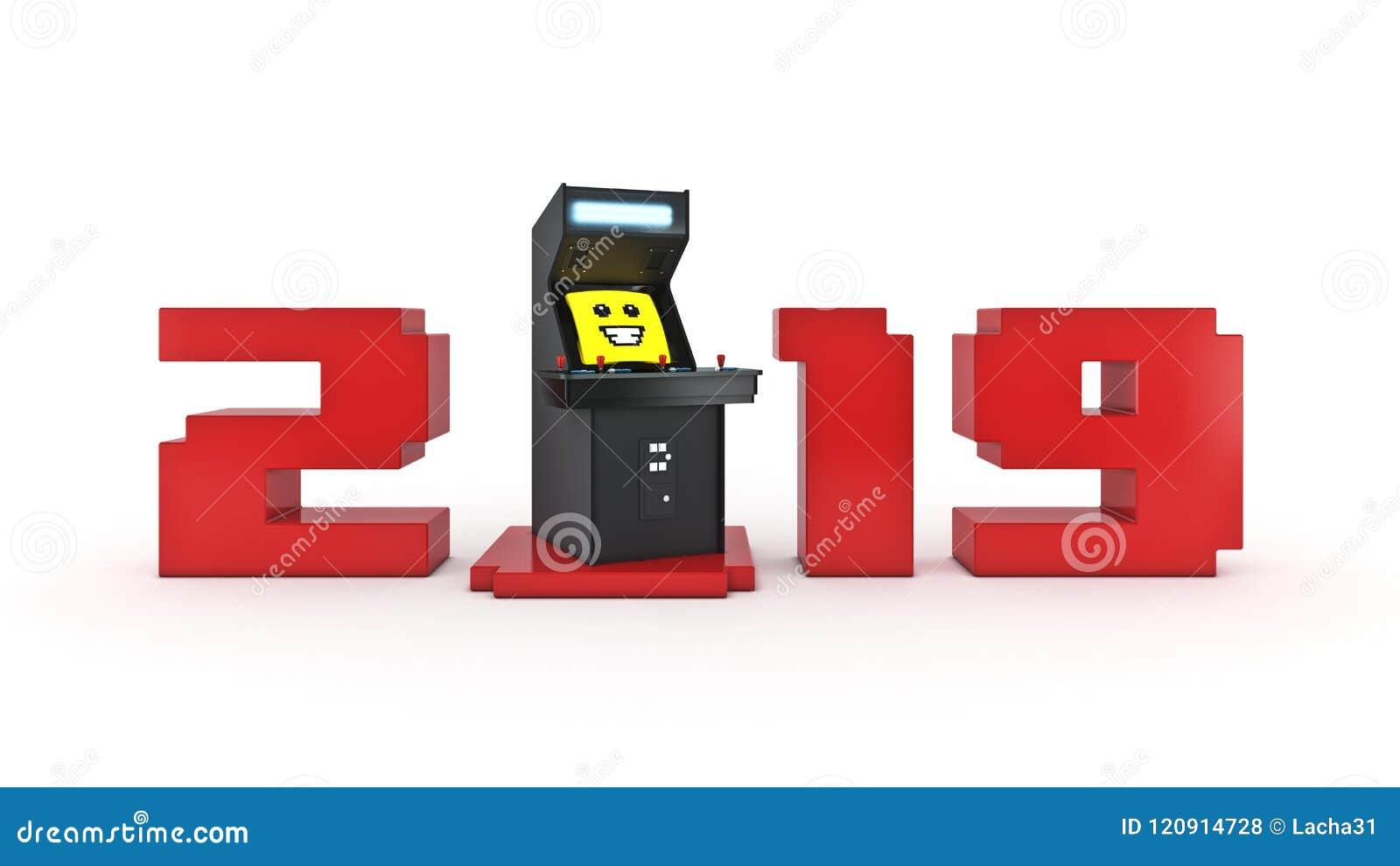 År för begrepp 2019 för modig maskin för tappninggalleri nytt
