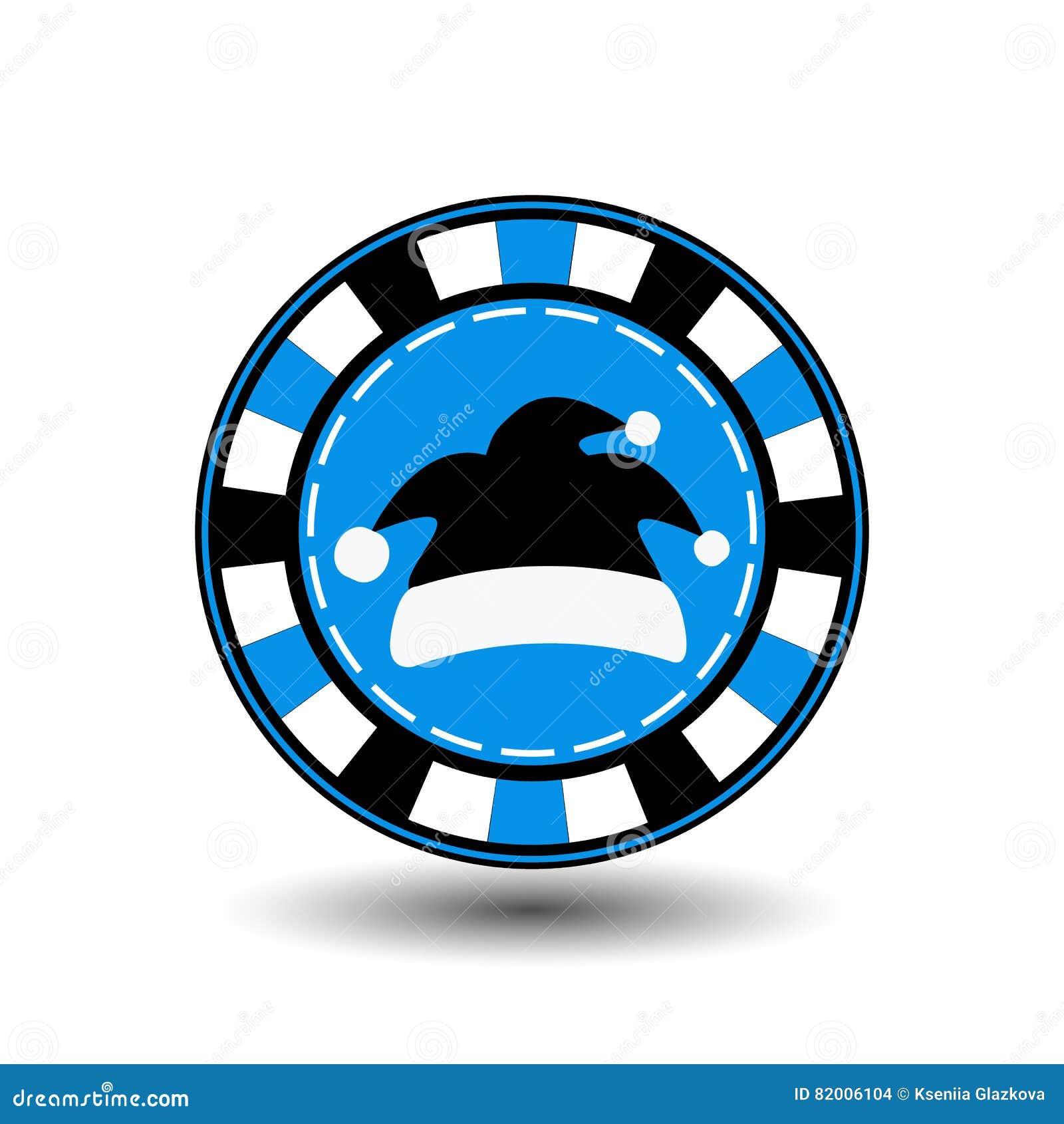 År för jul för pokerchip nytt Illustration för symbolsEPS 10 på en vit bakgrund som ska avskiljas lätt Bruk för websites, design,
