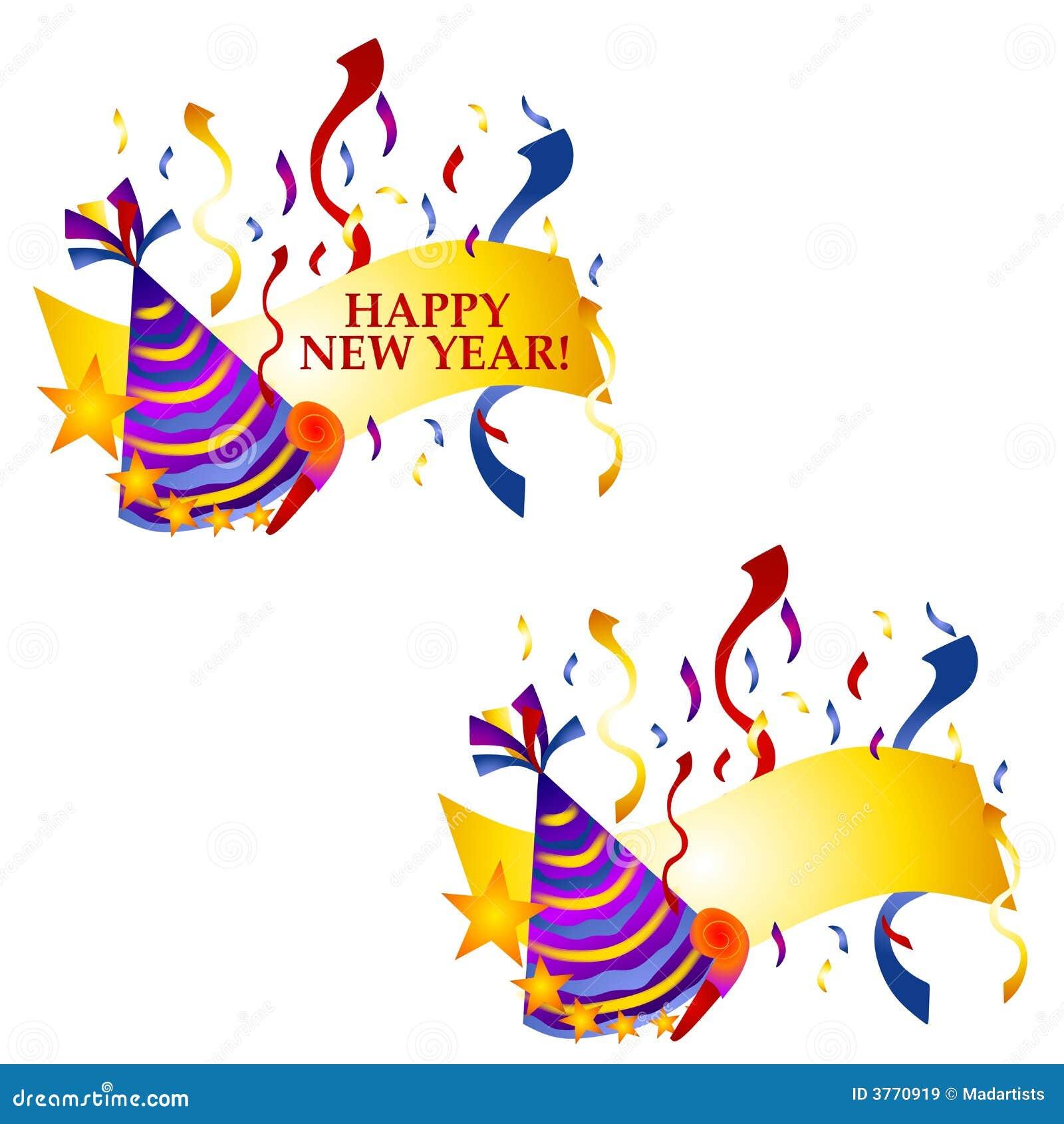 år för lyckliga logoer för baner nytt