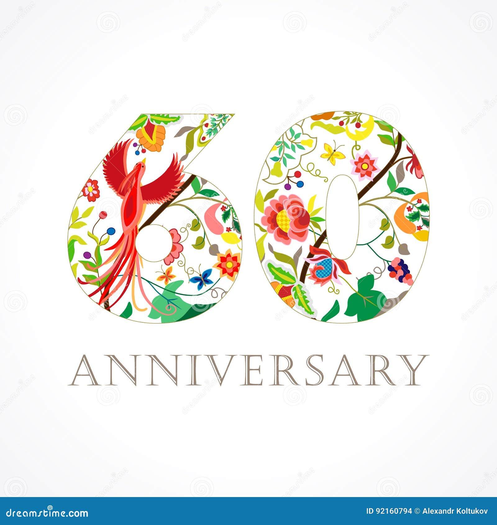 fira 60 år 60 år Gammal Lyxig Fira Folk Logo Vektor Illustrationer  fira 60 år