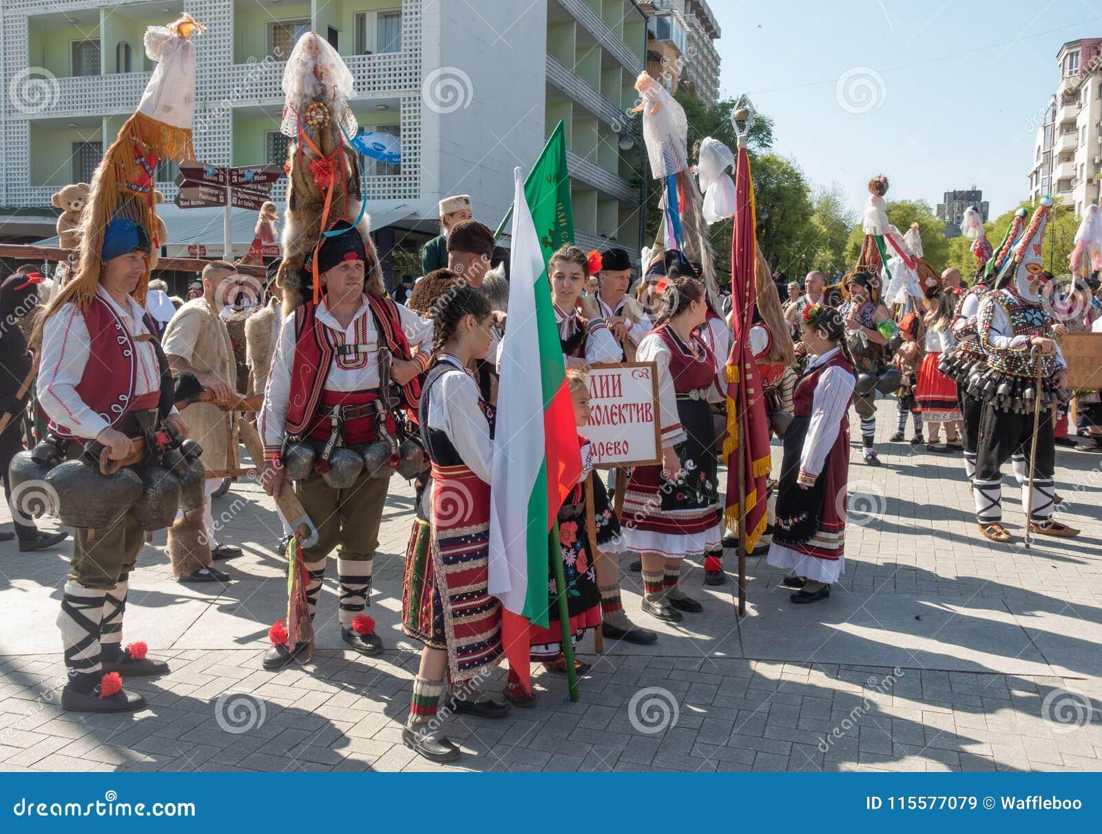 Årlig vårkarneval i Varna, Bulgarien