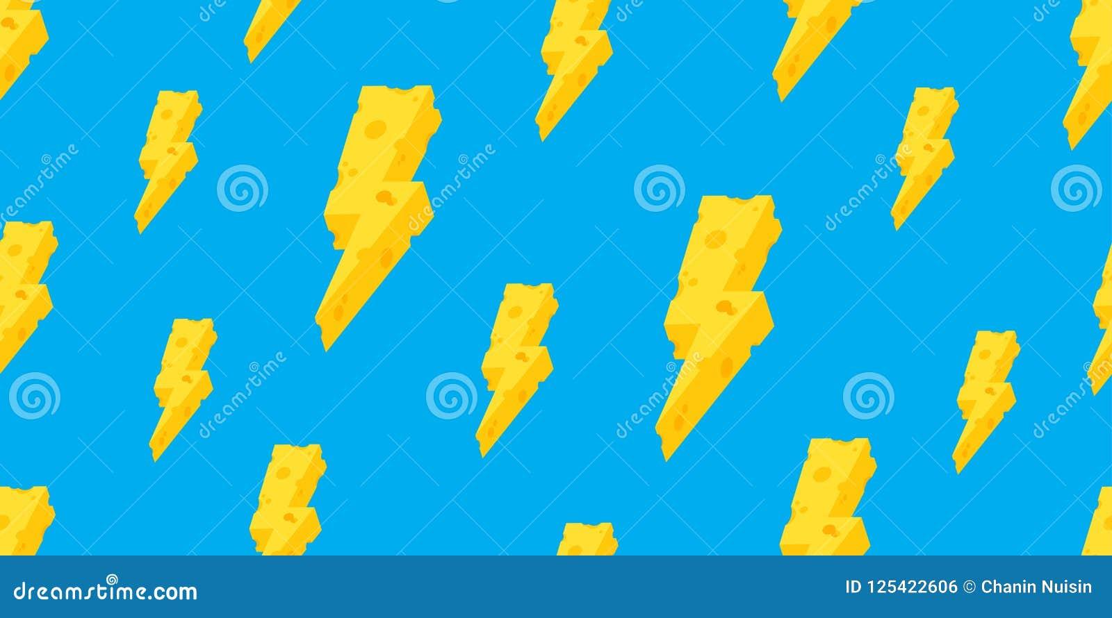 Åska sömlös blått för bakgrund för tapeten för vektorn för modellsmör ost isolerade