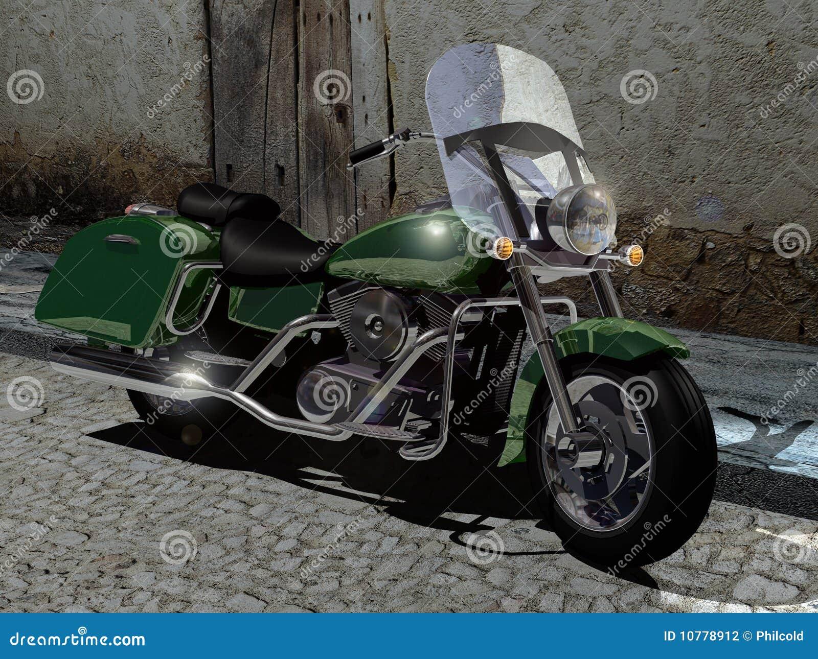 återställd motorcykel