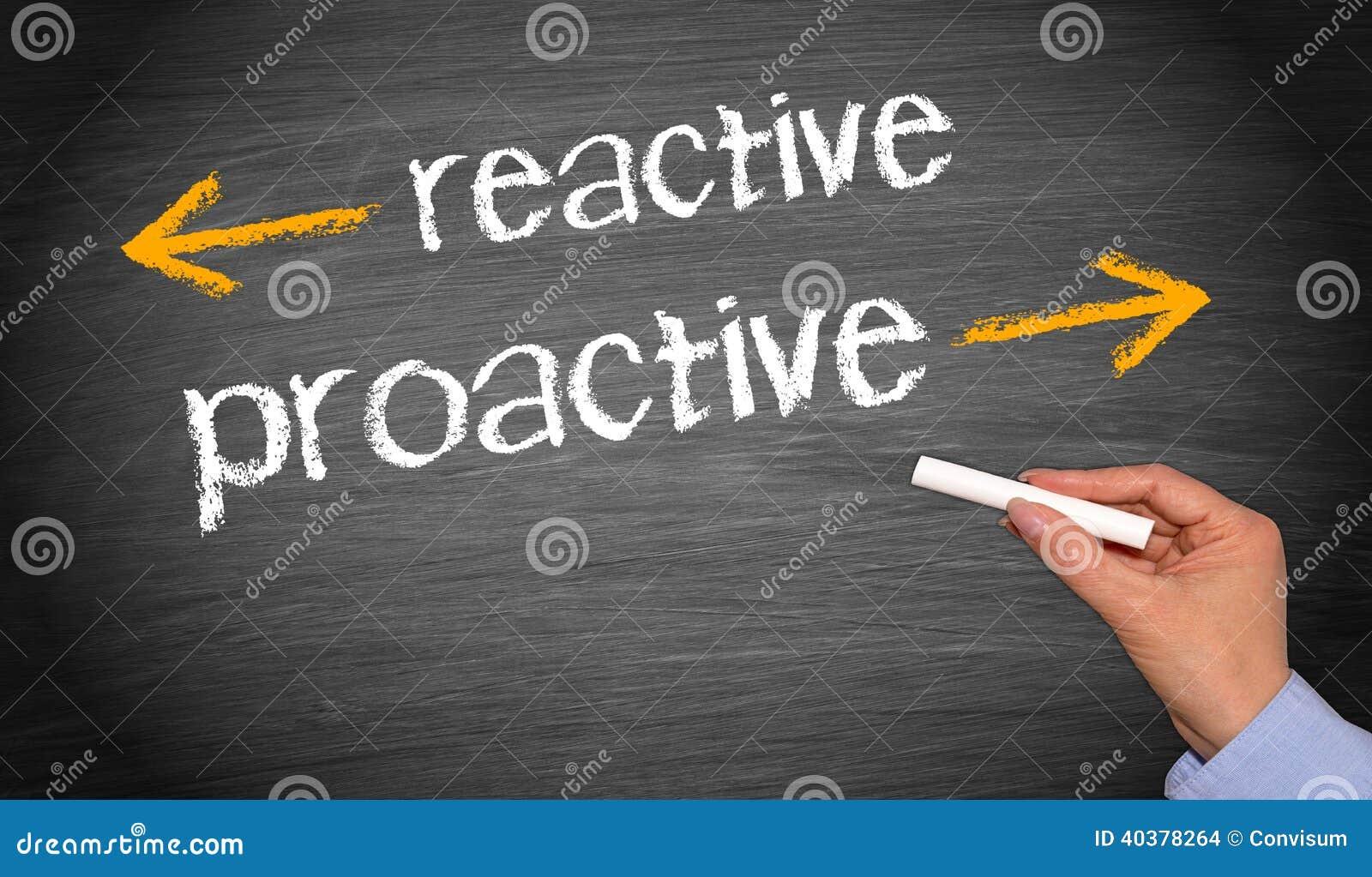Återverkande vs proaktivt
