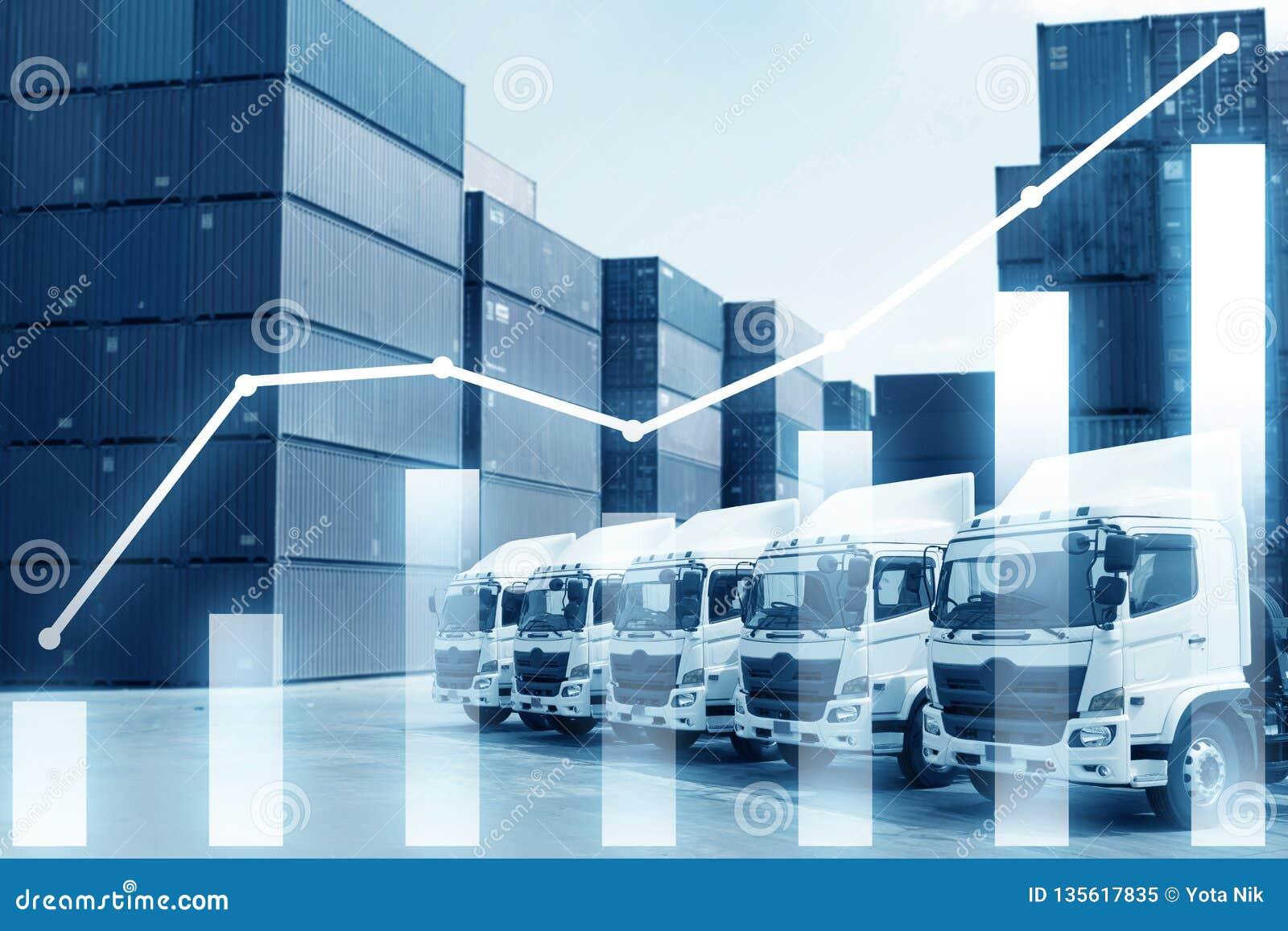 Åtskillig exponering av begreppet för bransch för logistik för import & för export för affärslastsändnings