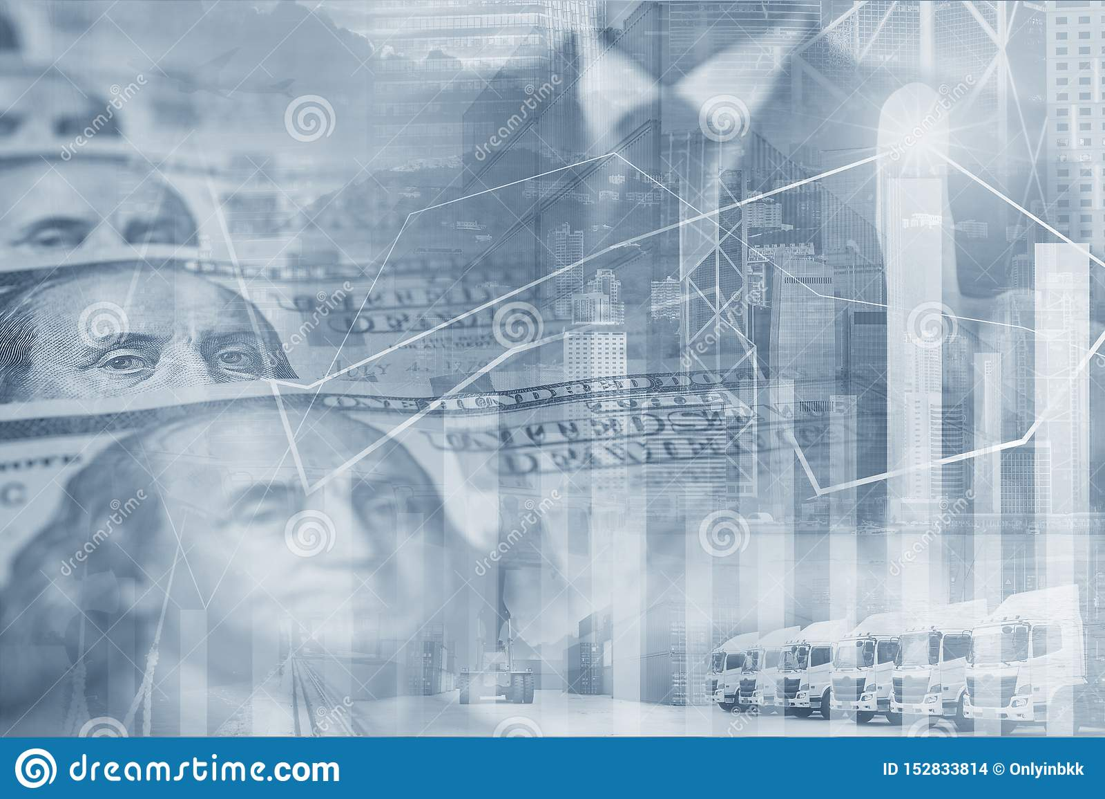 Åtskilliga exponeringar för affärsbakgrund med US dollarpengar med kommando för affärsfolk