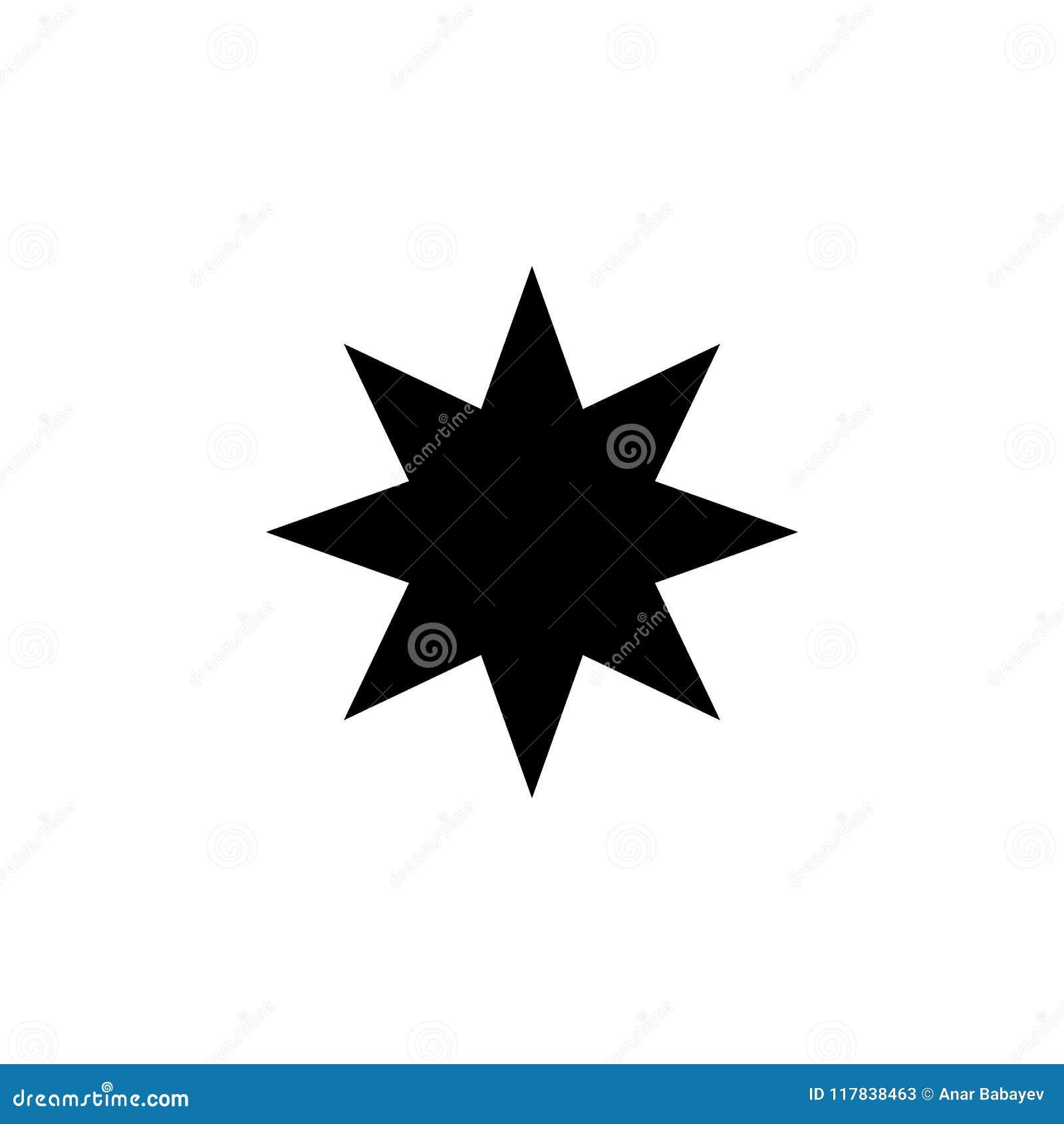 Åtta-pekad stjärnasymbol Beståndsdel av rengöringsduksymboler Högvärdig kvalitets- symbol för grafisk design Tecken och symbolsam