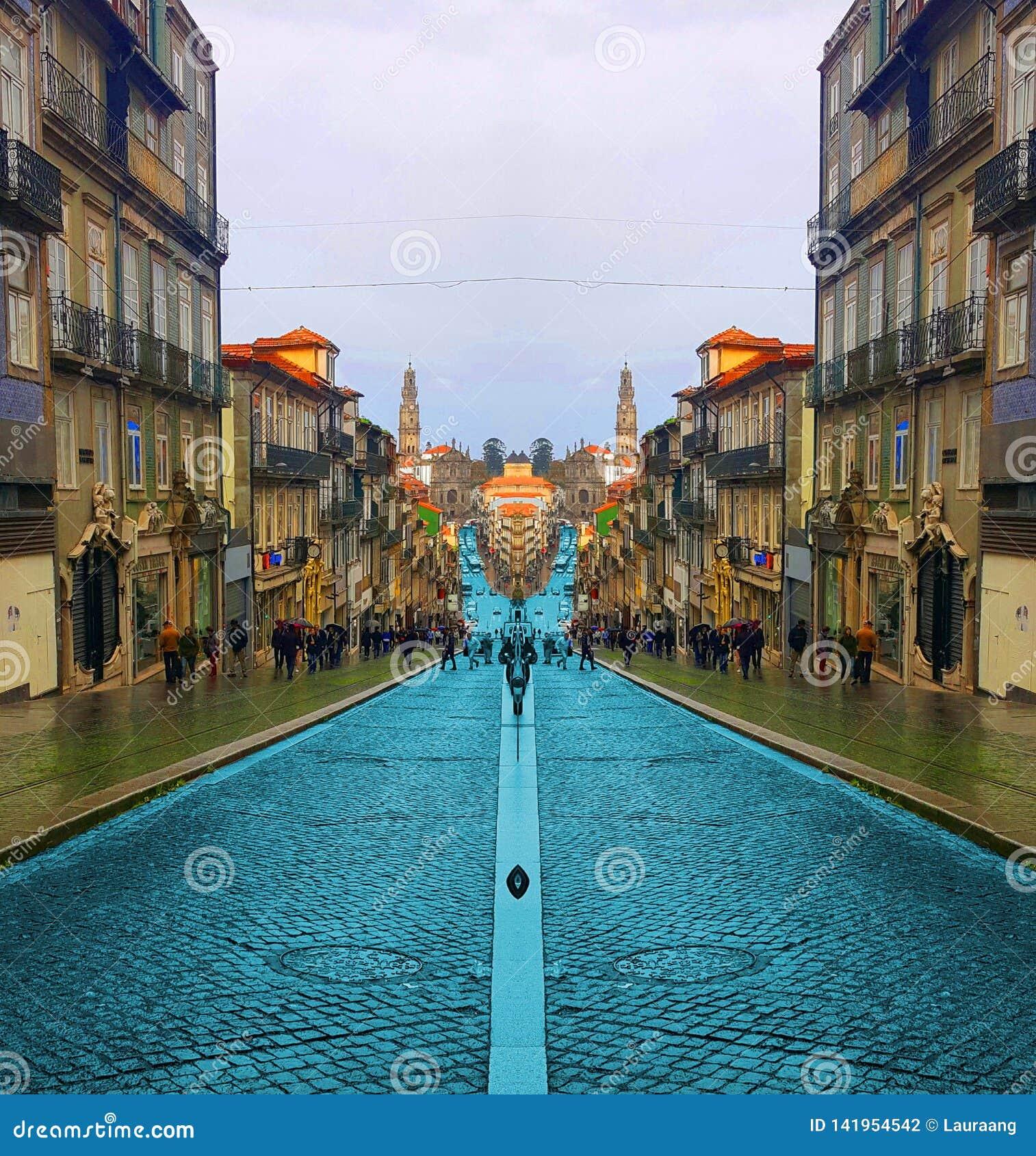 波尔图街在葡萄牙