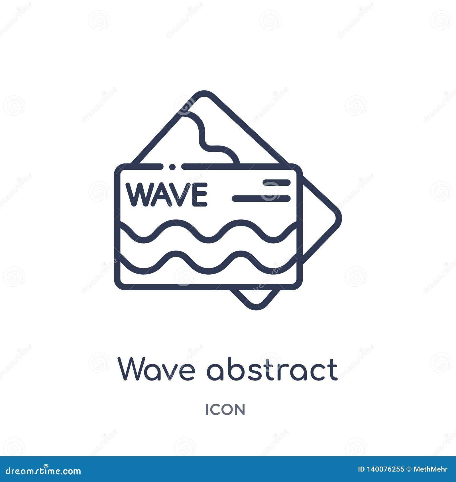 波浪摘要从其他概述汇集的名片象 稀薄的线波浪摘要在白色隔绝的名片象
