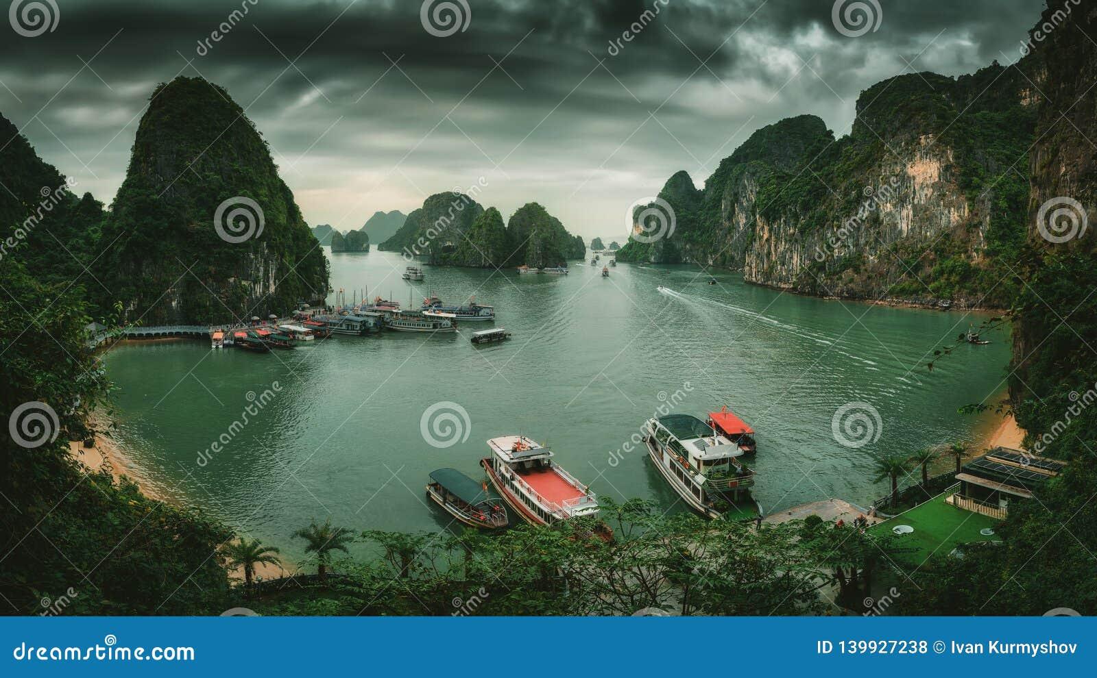 海湾ha长越南 海岛环境美化在哈隆