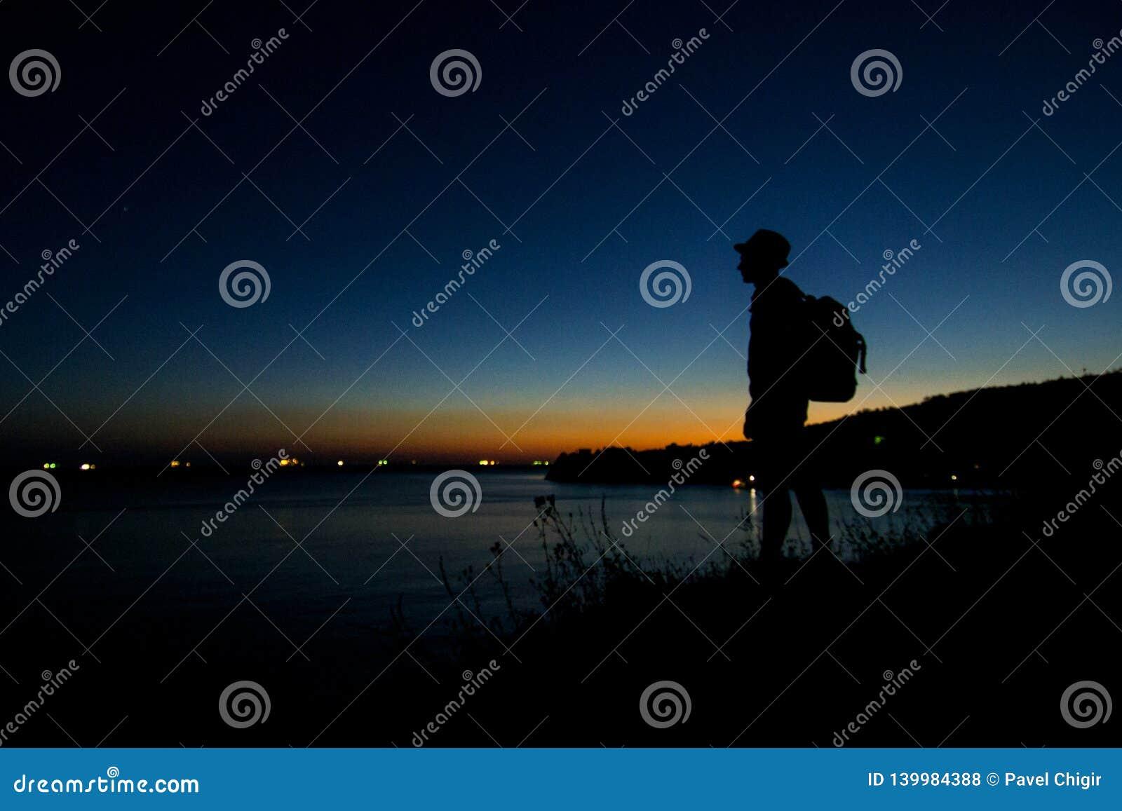 海滩,美丽,蓝色,云彩,海岸,黄昏,晚上,天际,海岛,风景,光,山,自然,海洋,桔子,岩石,ro