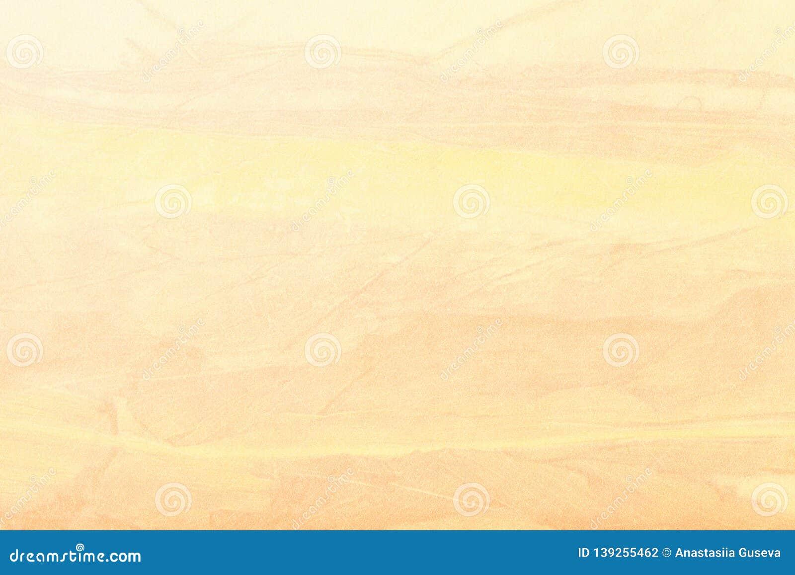 抽象派背景金黄和黄色颜色 在帆布的多色绘画