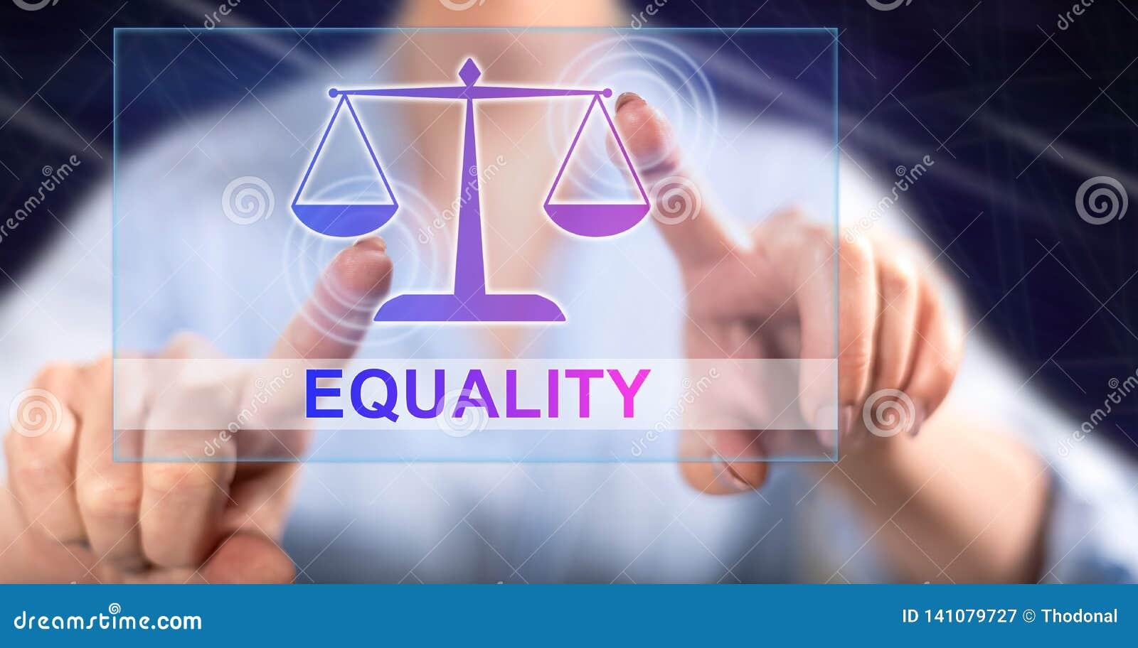 接触平等概念的妇女