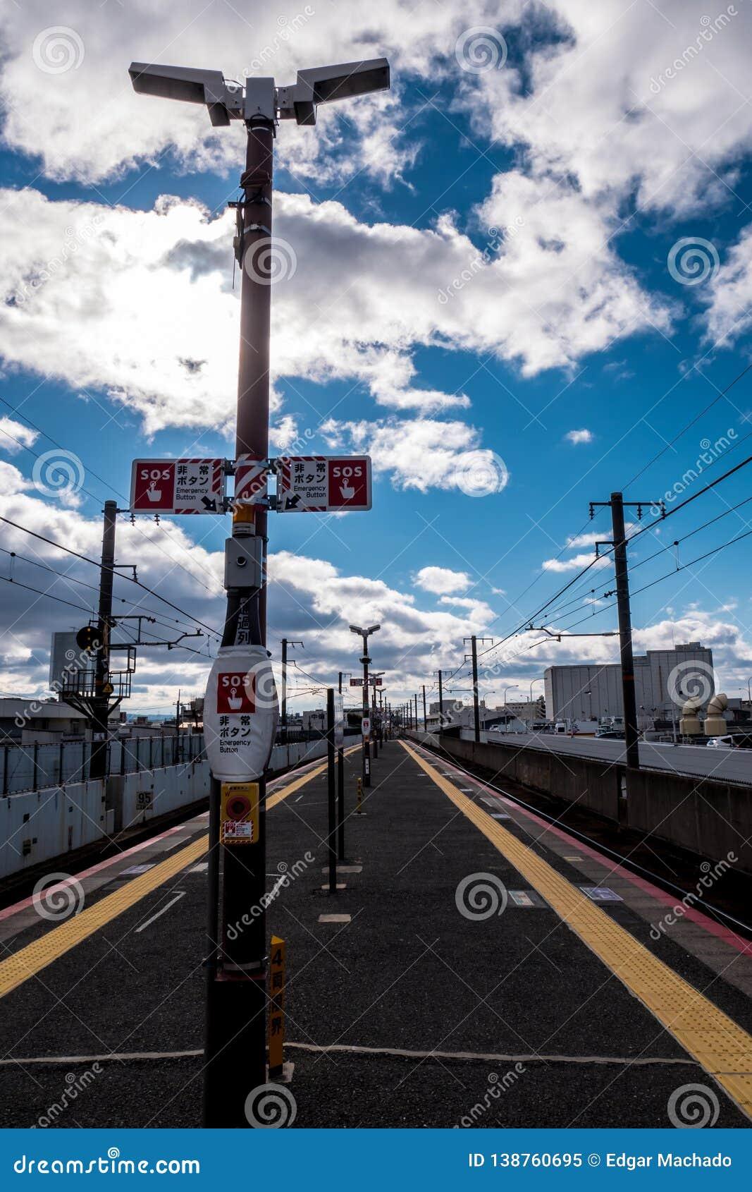 日本火车站平台