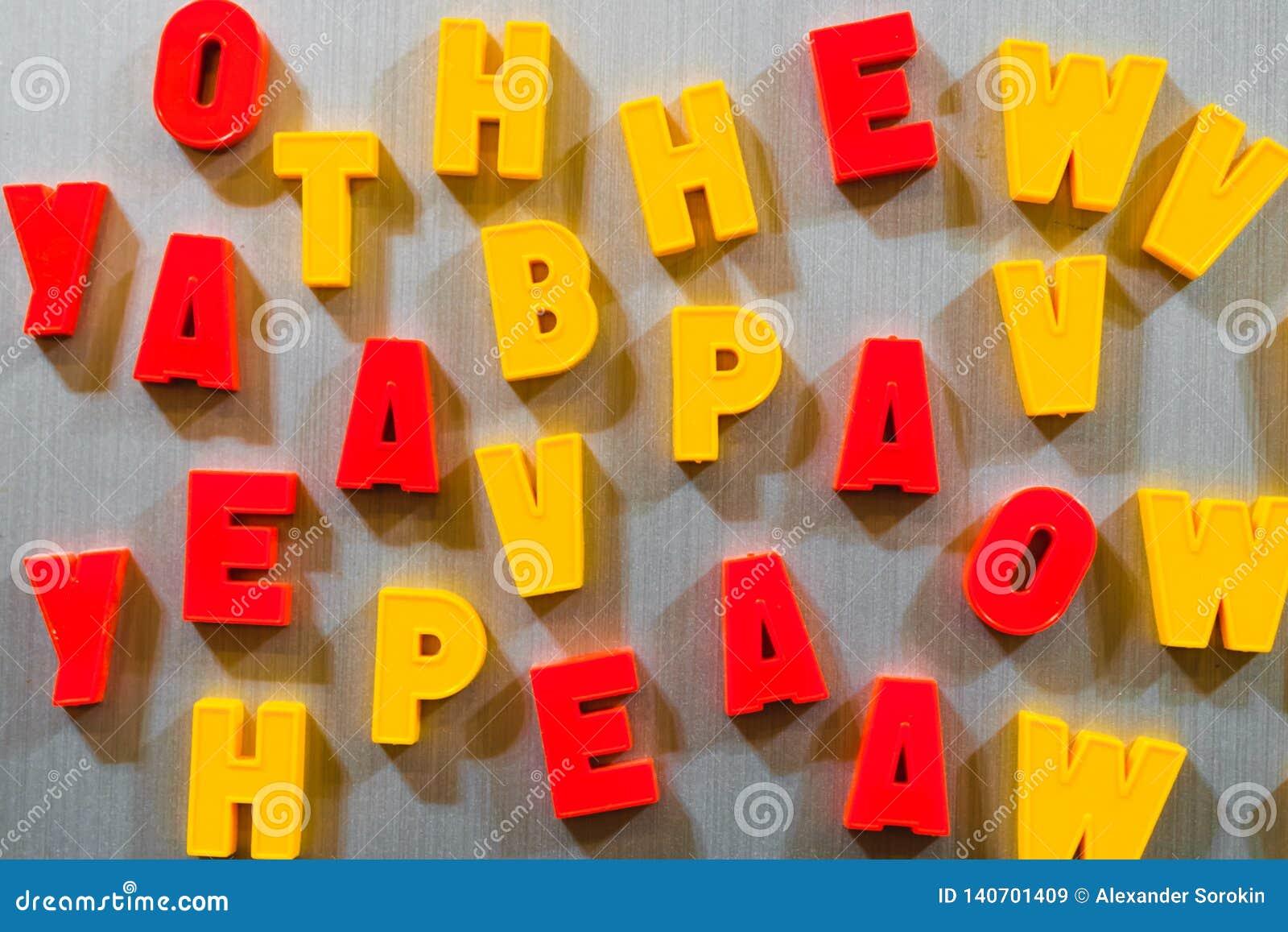 教的信件孩子斯拉夫语字母或拉丁语