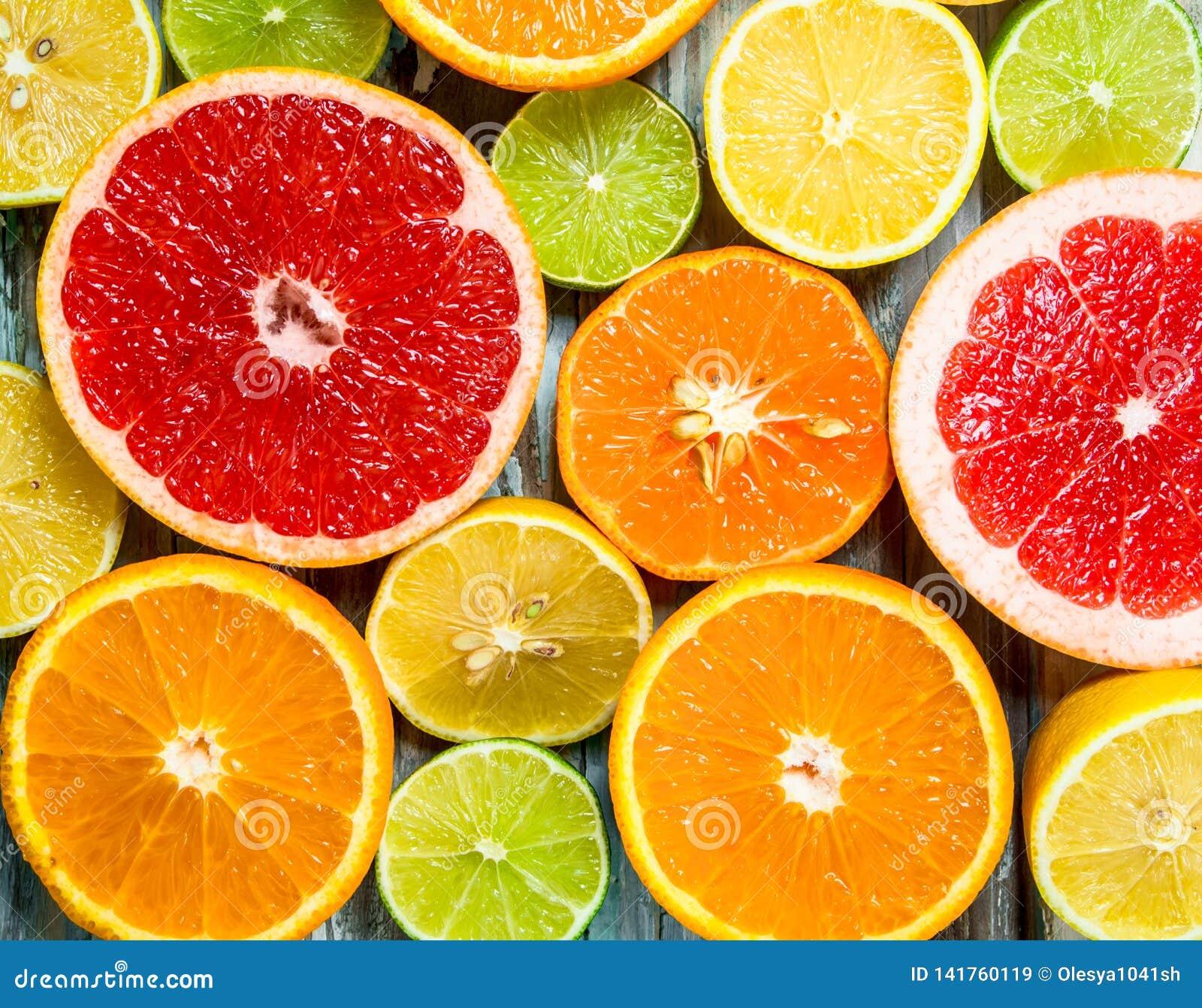 新鲜的明亮的柑橘