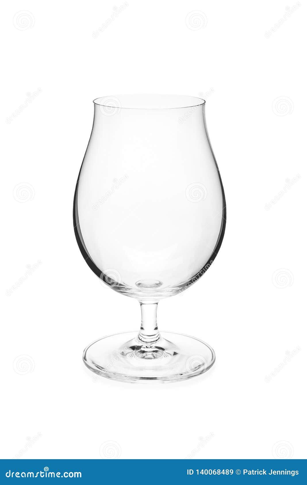 空的郁金香啤酒杯