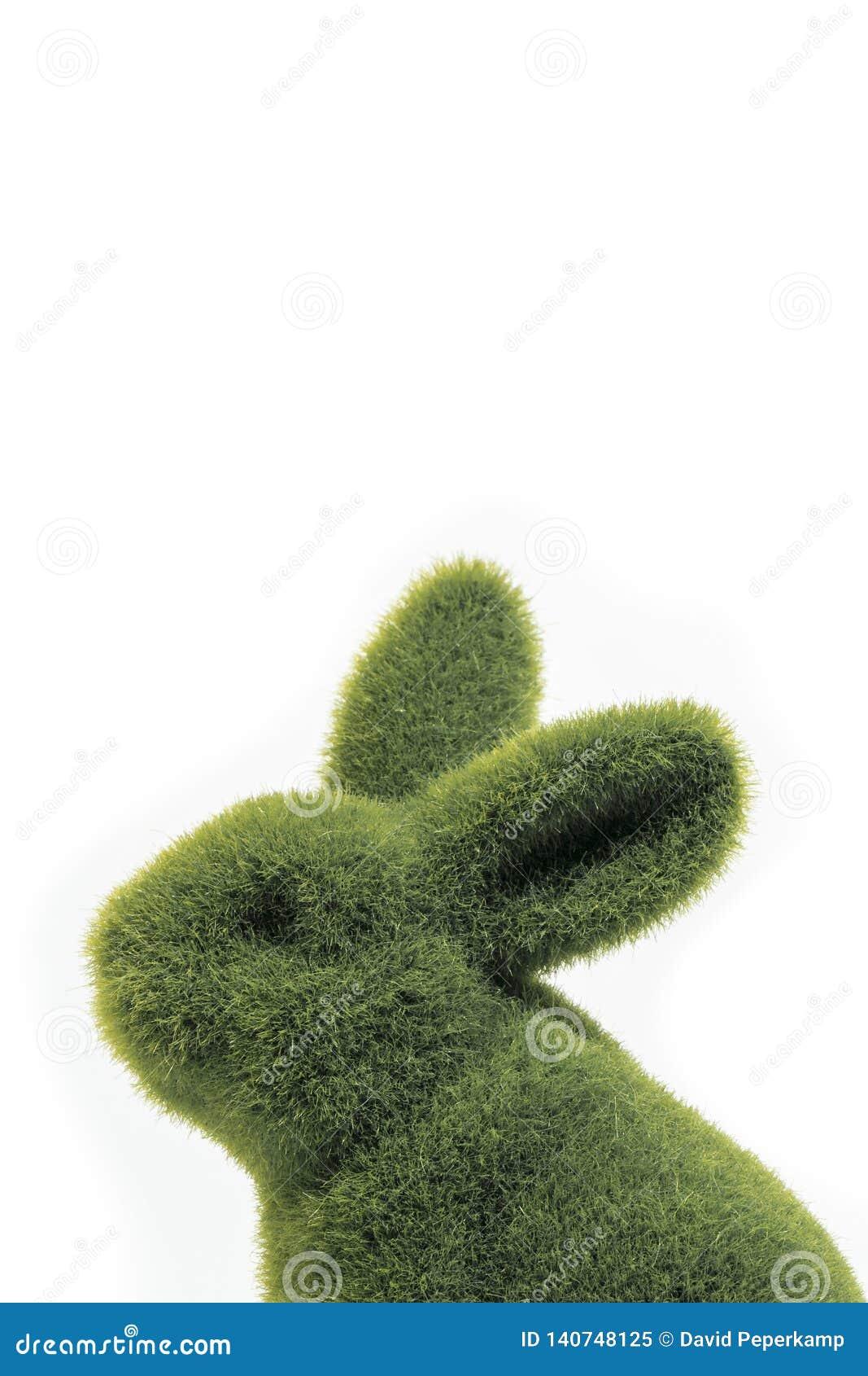 绿色复活节兔子的关闭