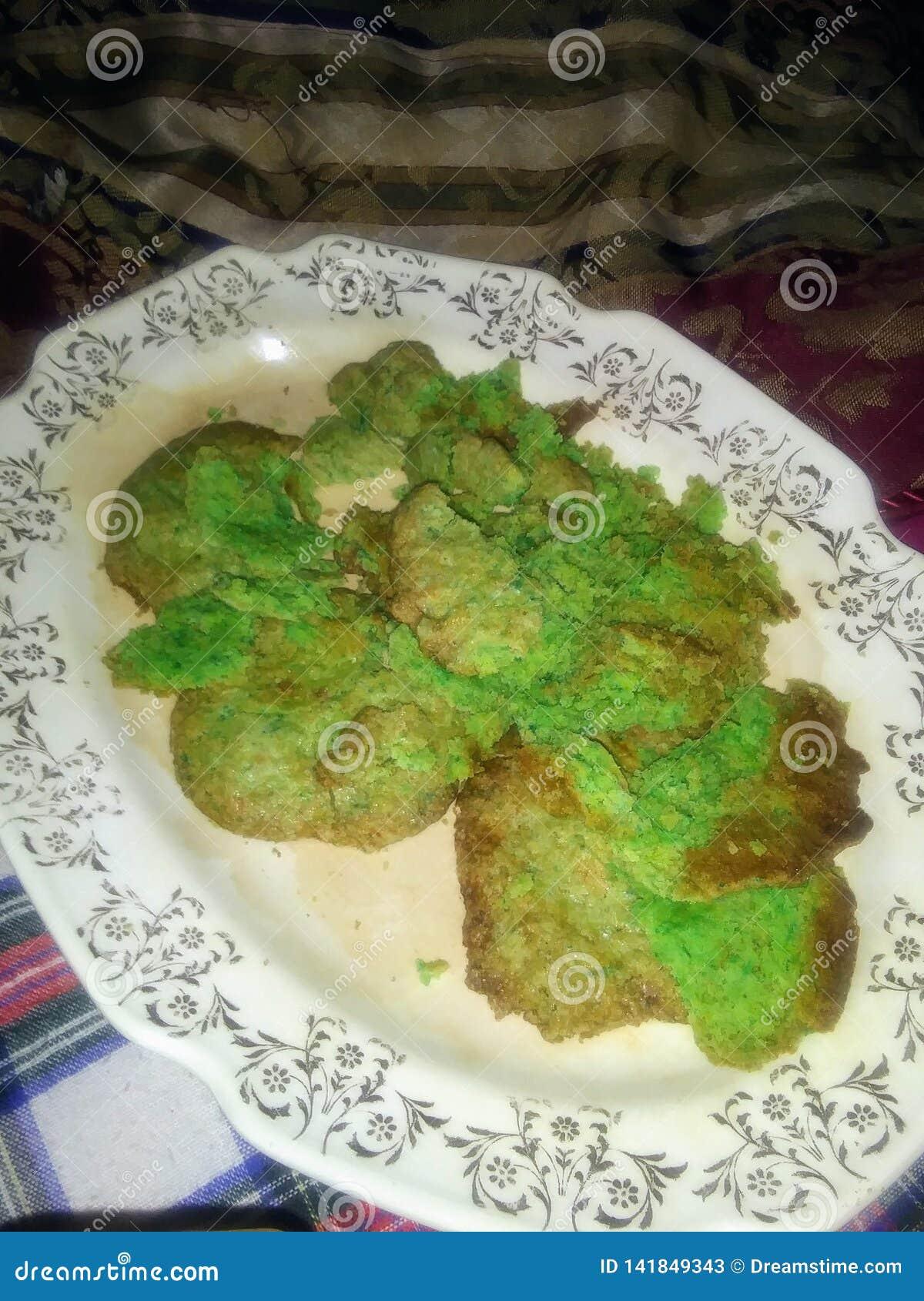 绿色TMNT糖屑曲奇饼