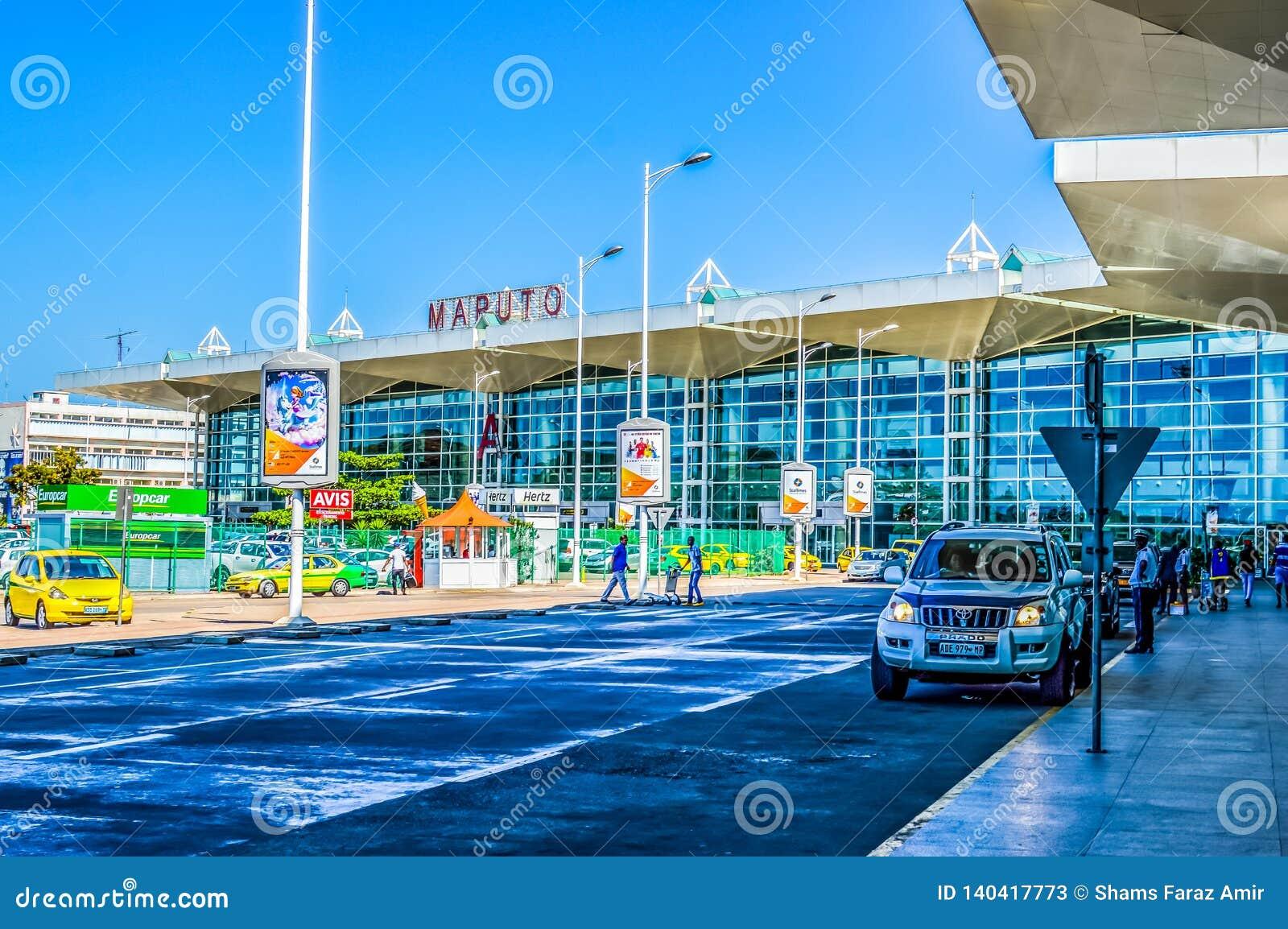 美好的马普托机场外部在莫桑比克