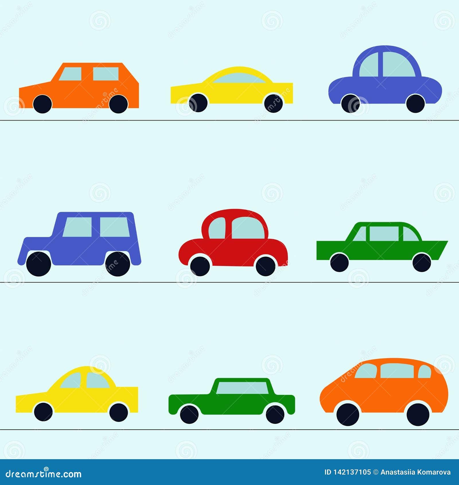 现代汽车的汇集:敞蓬车,斜背式的汽车,大型高级轿车,跑车