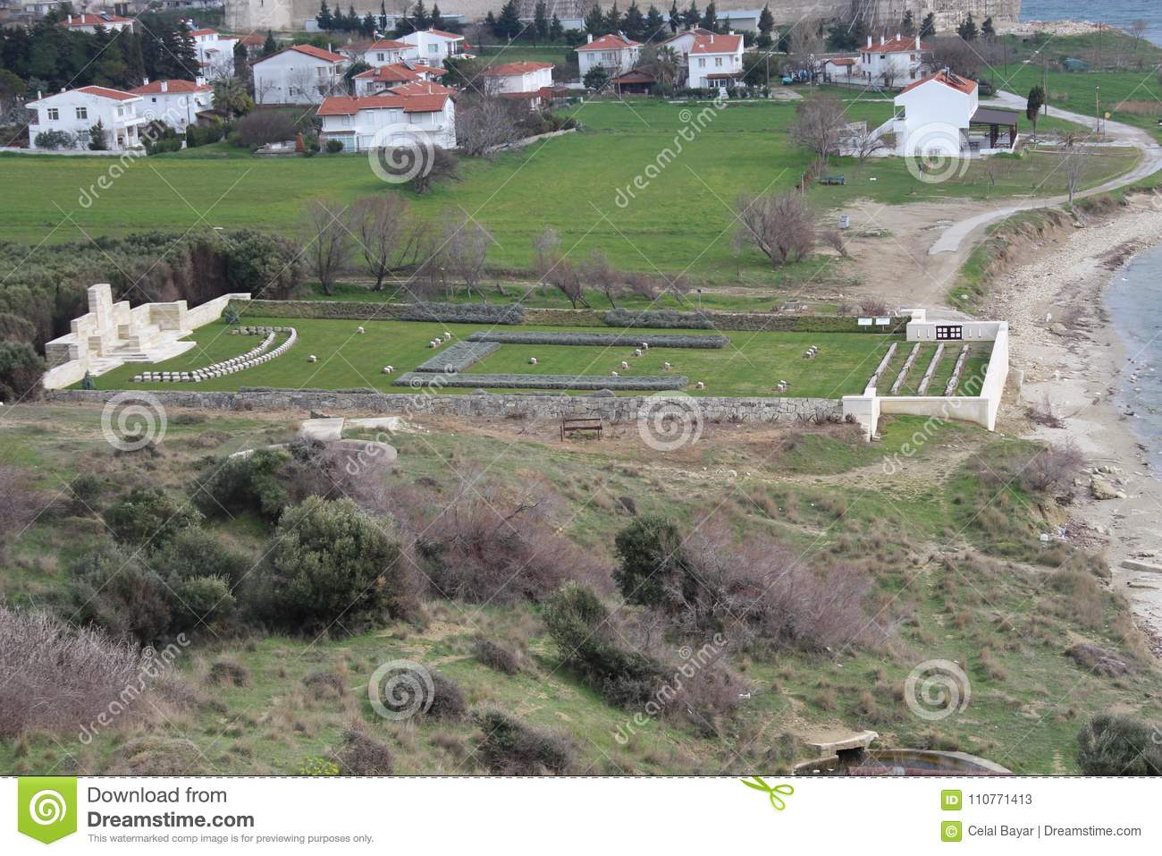 Download The Hidden Cemetery And Monument Stock Image - Image of cemetery, hidden: 110771413