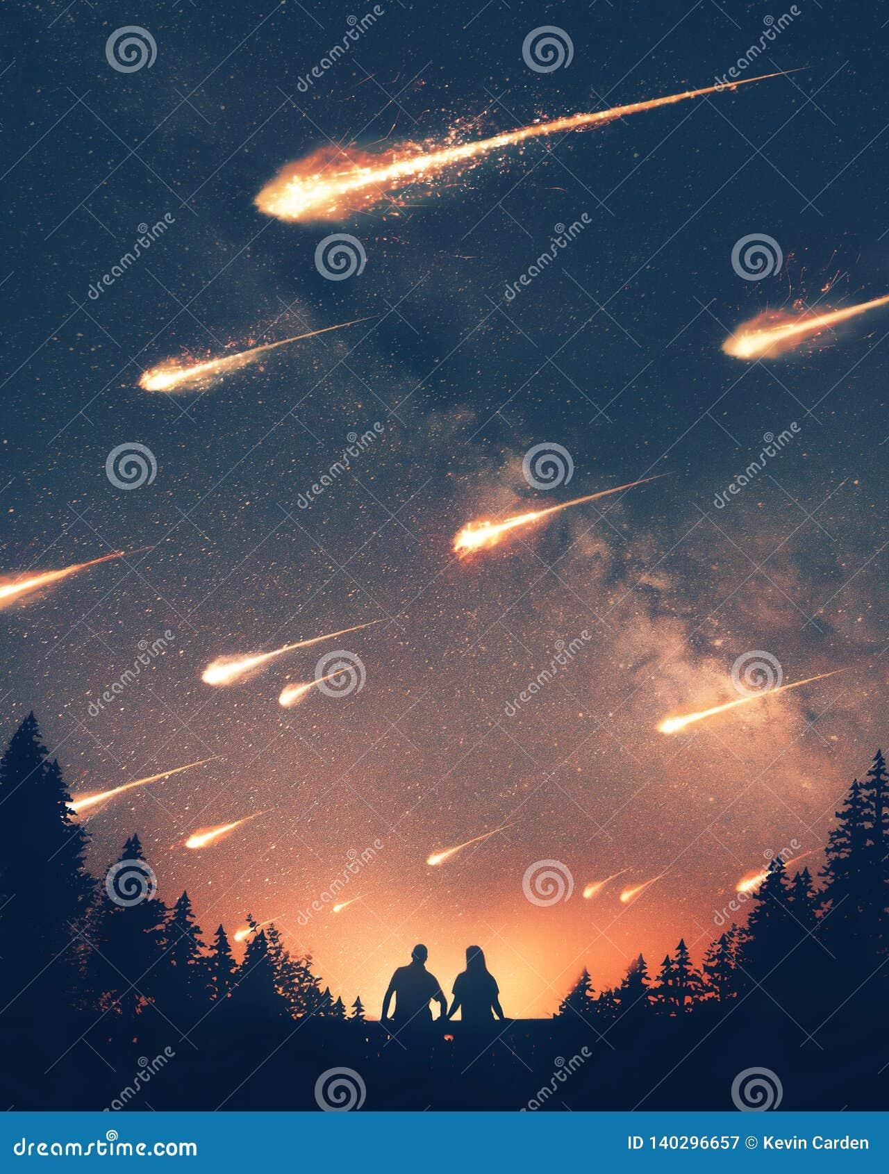 落对地球的小行星