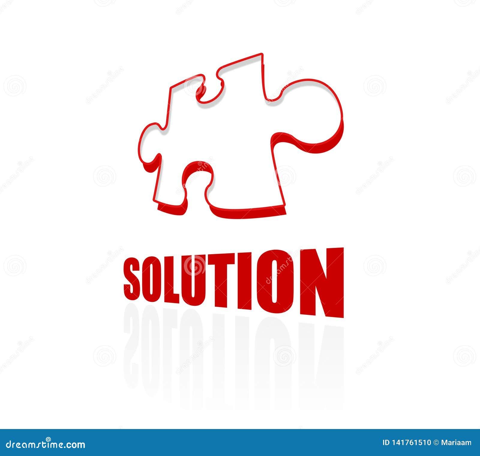 解答和难题象 让发现完善的解答 概念 清洗设计