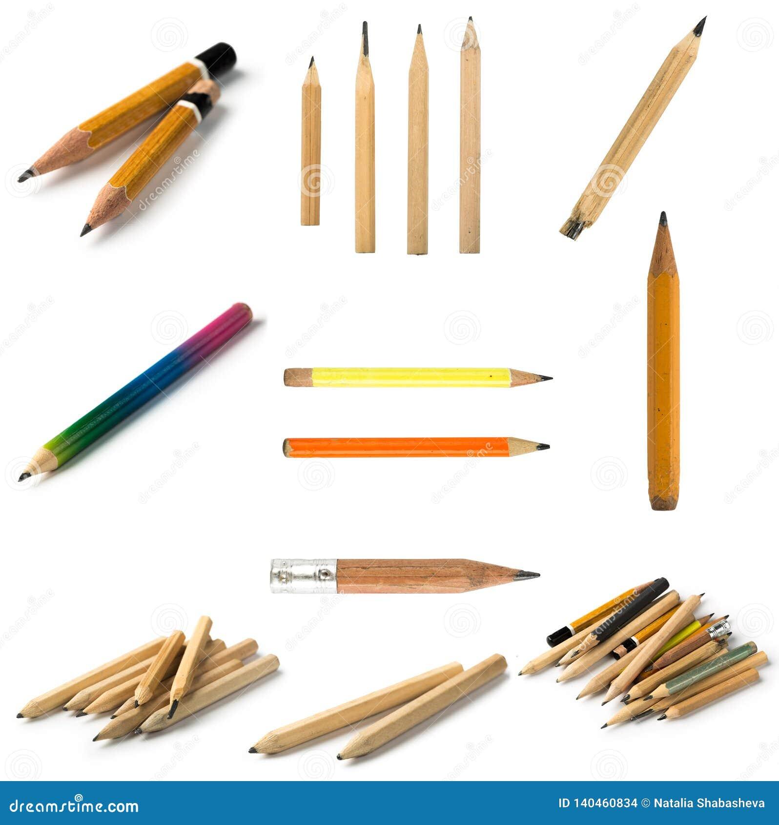 设置在被隔绝的背景的短的铅笔