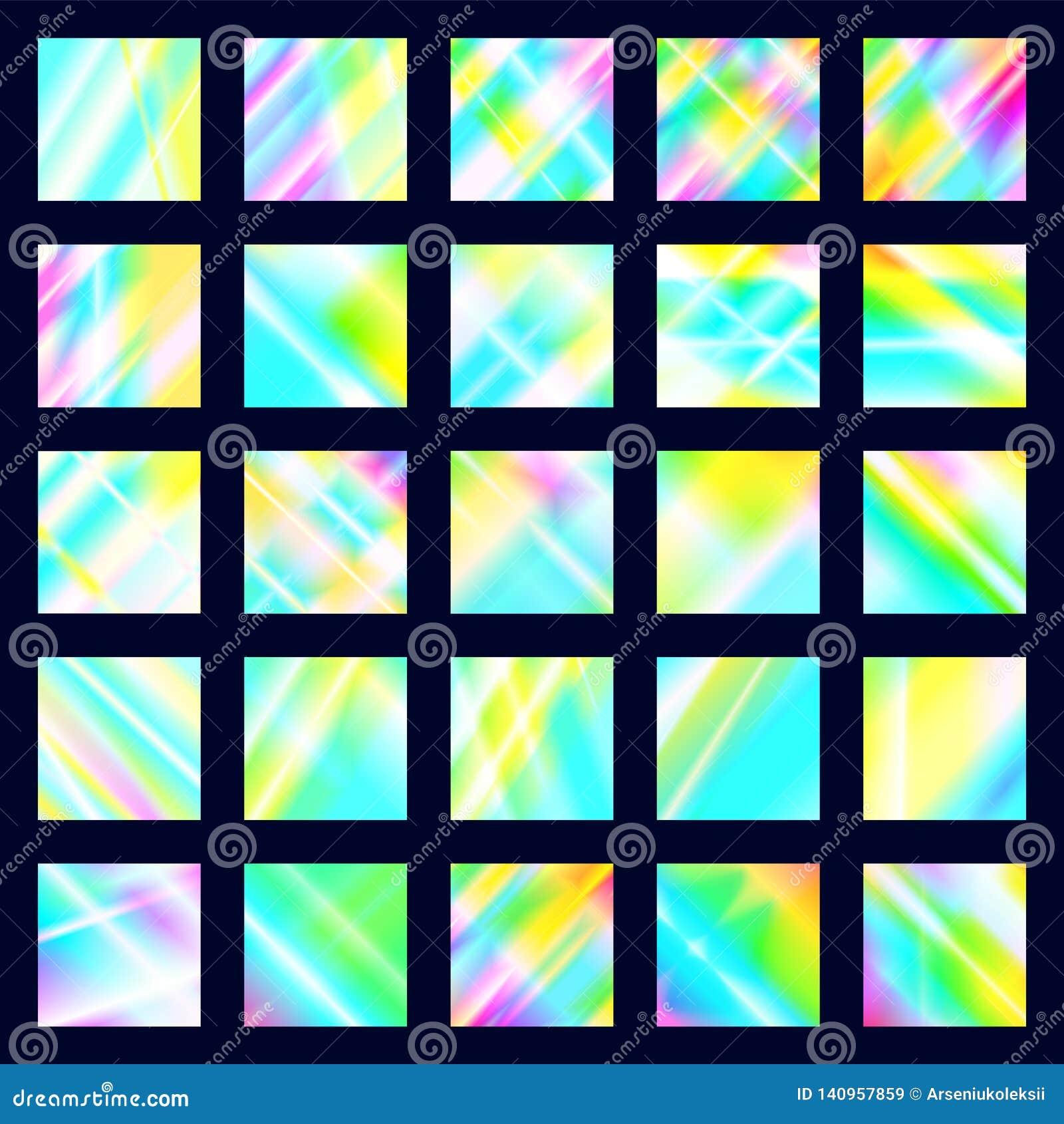 设置呈虹彩迪斯科纹理 全息照相的棱镜背景 彩虹焕发光的反射分散作用和反射