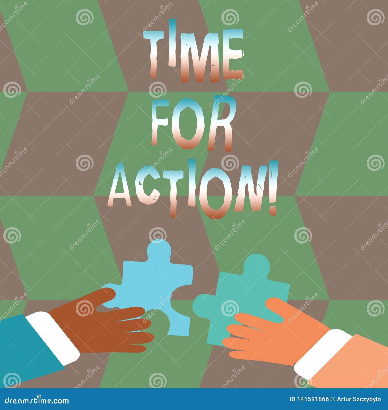 词文字行动的文本时间 紧急移动鼓励挑战工作的企业概念