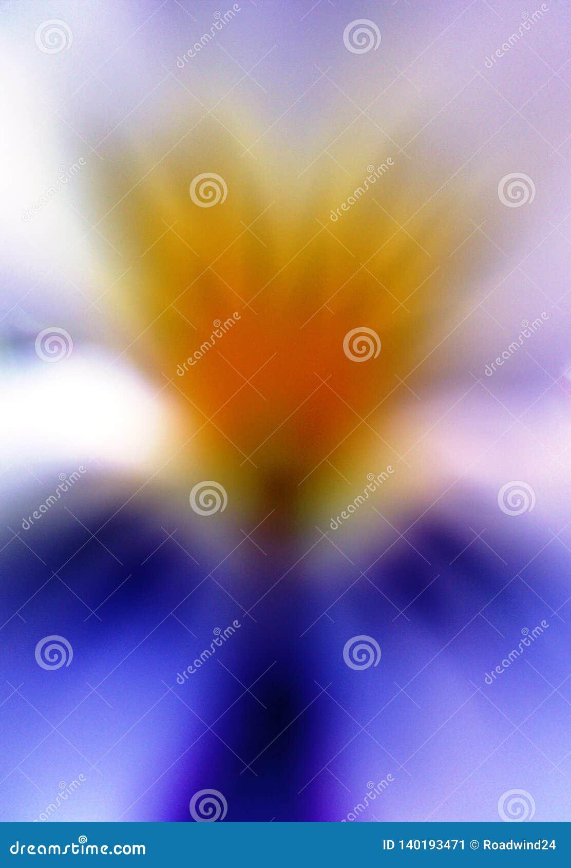 象三色花的中提琴的抽象天使