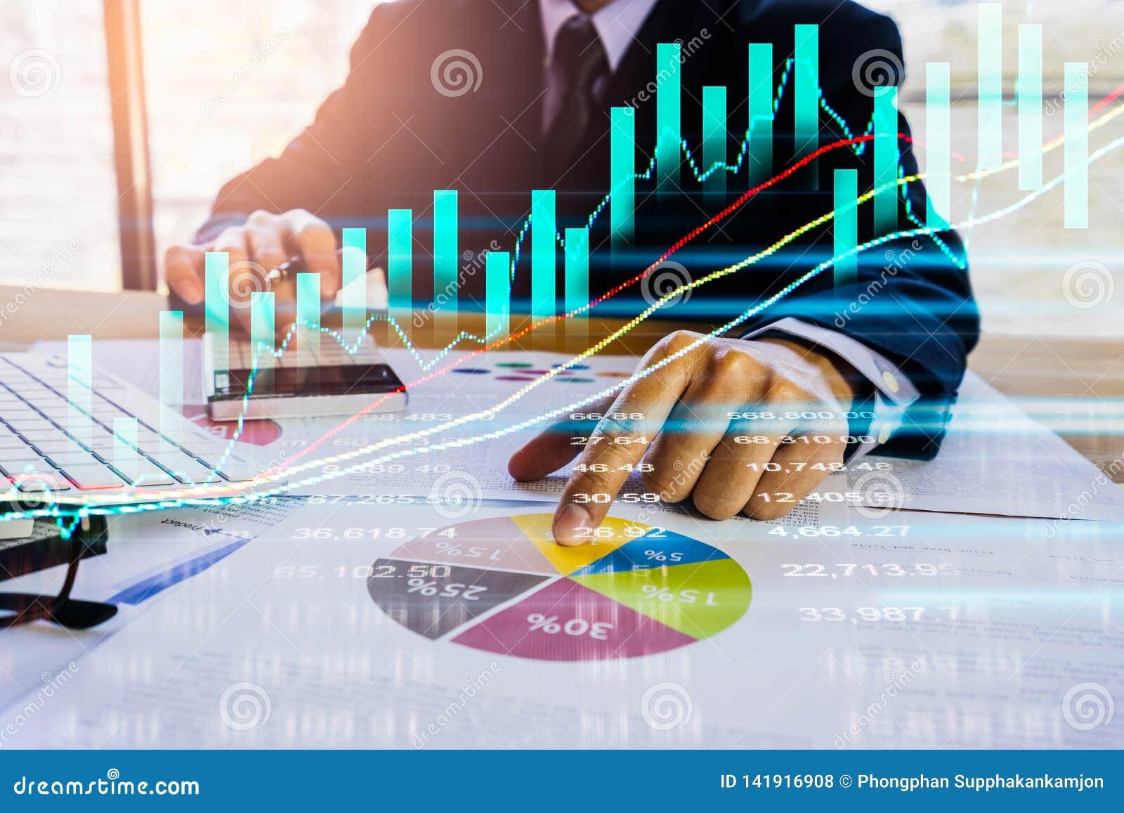 股市或外汇贸易的图表和烛台绘制适用于图表金融投资概念 经济趋向背景为