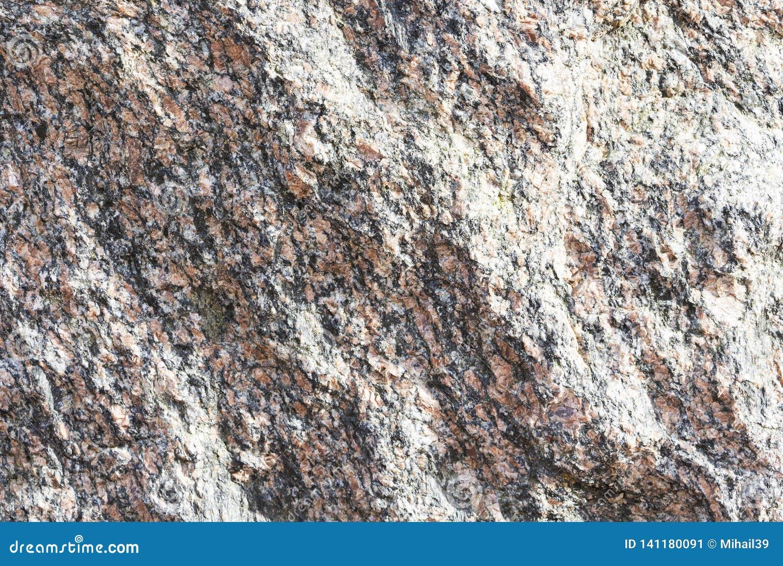 自然花岗岩纹理  自然石头 关闭