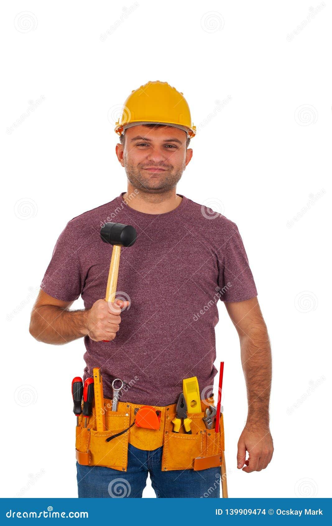 英俊的安装工
