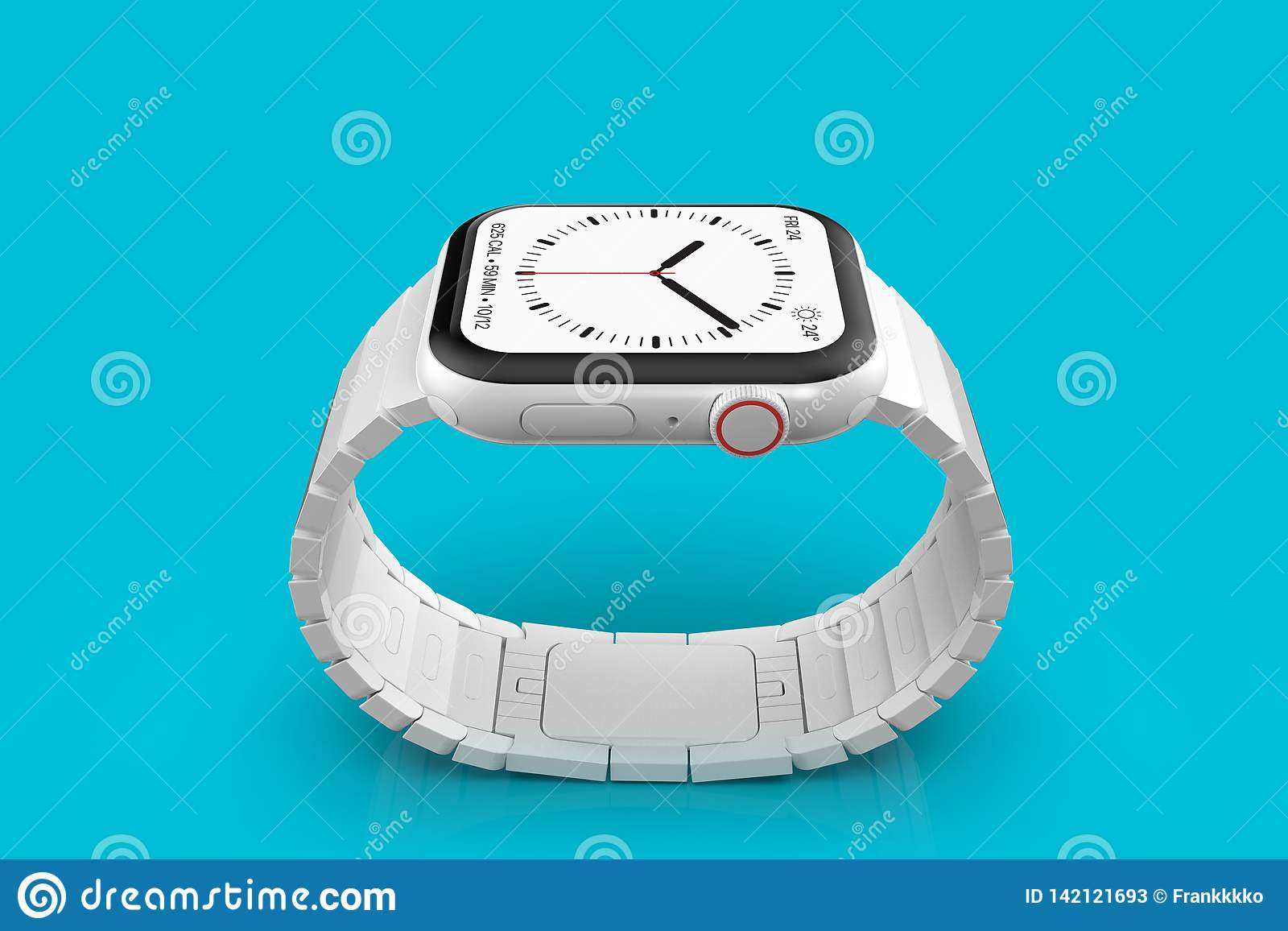 苹果计算机手表4白色陶瓷虚构的谣言设备,大模型