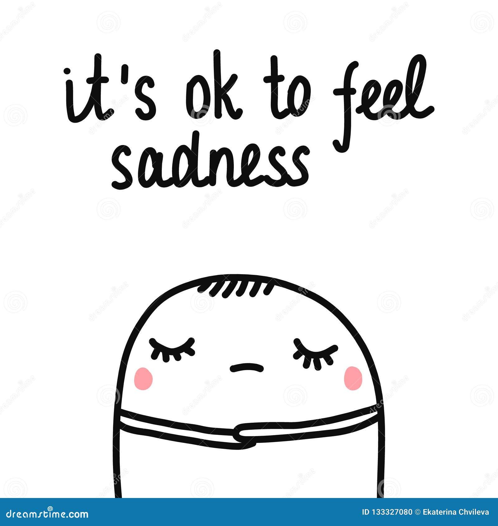 È giusto da ritenere l illustrazione disegnata a mano di tristezza con la caramella gommosa e molle sveglia triste e stanca per l