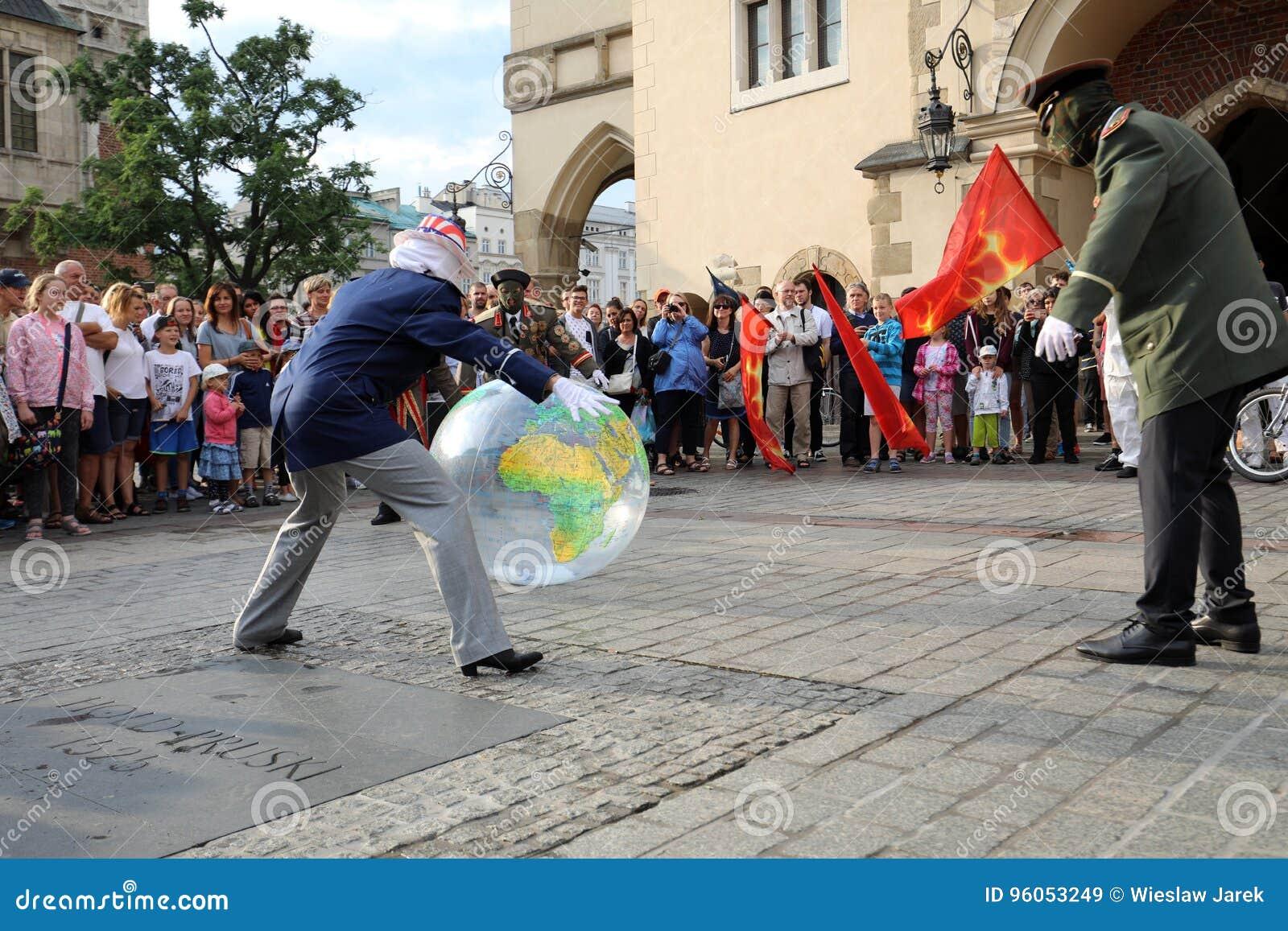 30ème rue - festival international des théâtres de rue à Cracovie, Pologne