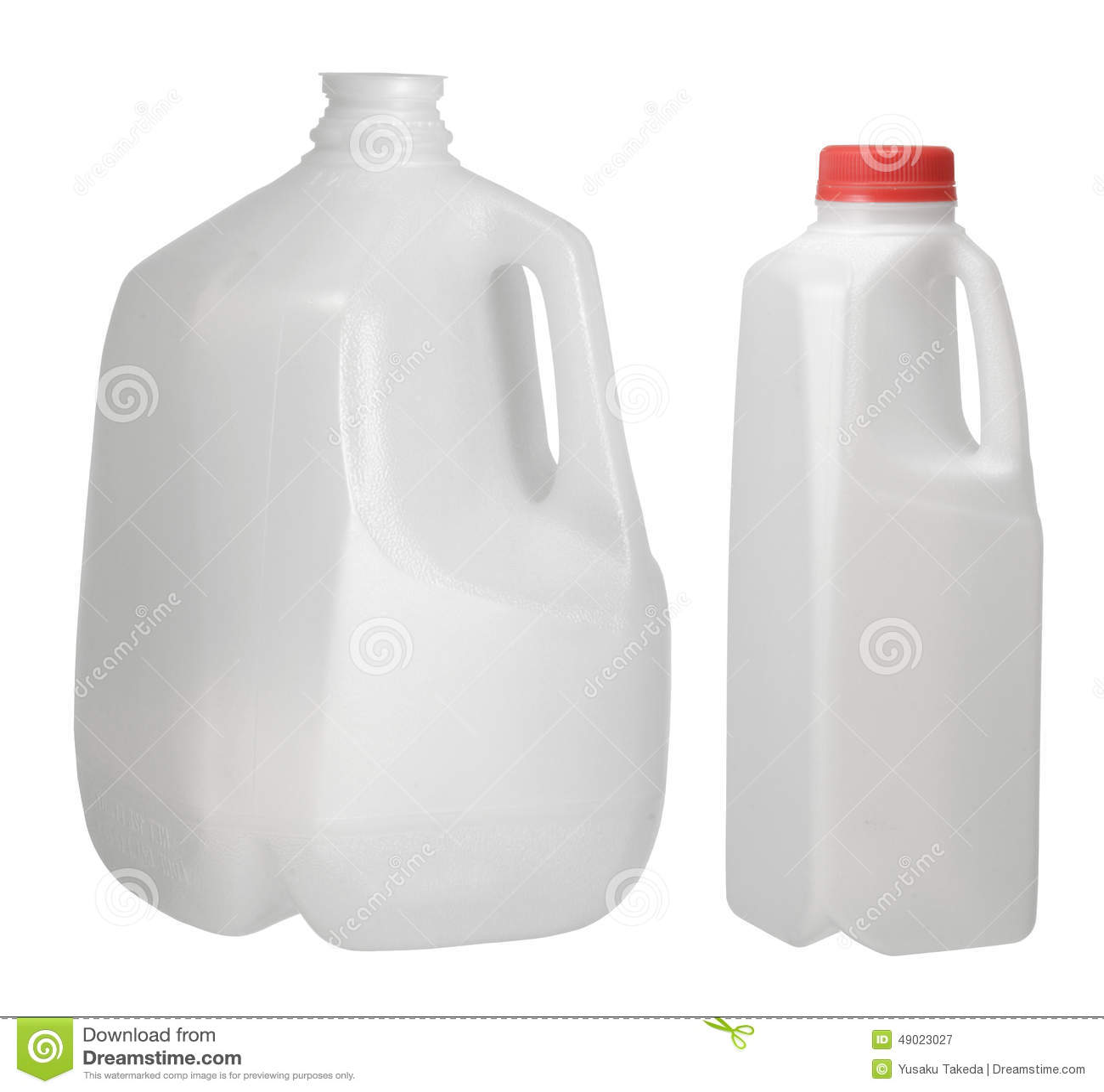 Één Gallon en Kwart gallonfles